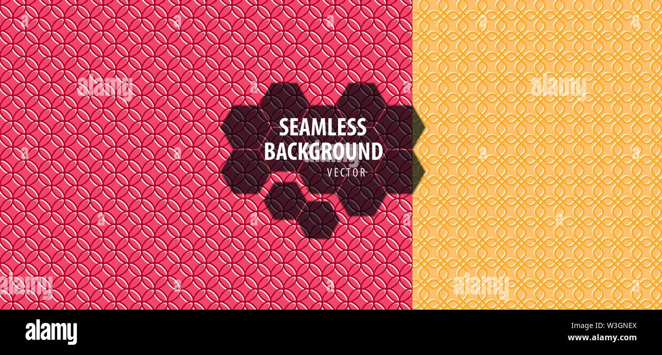 Set of seamless patterns. Abstract geometric background vector - Stock Image