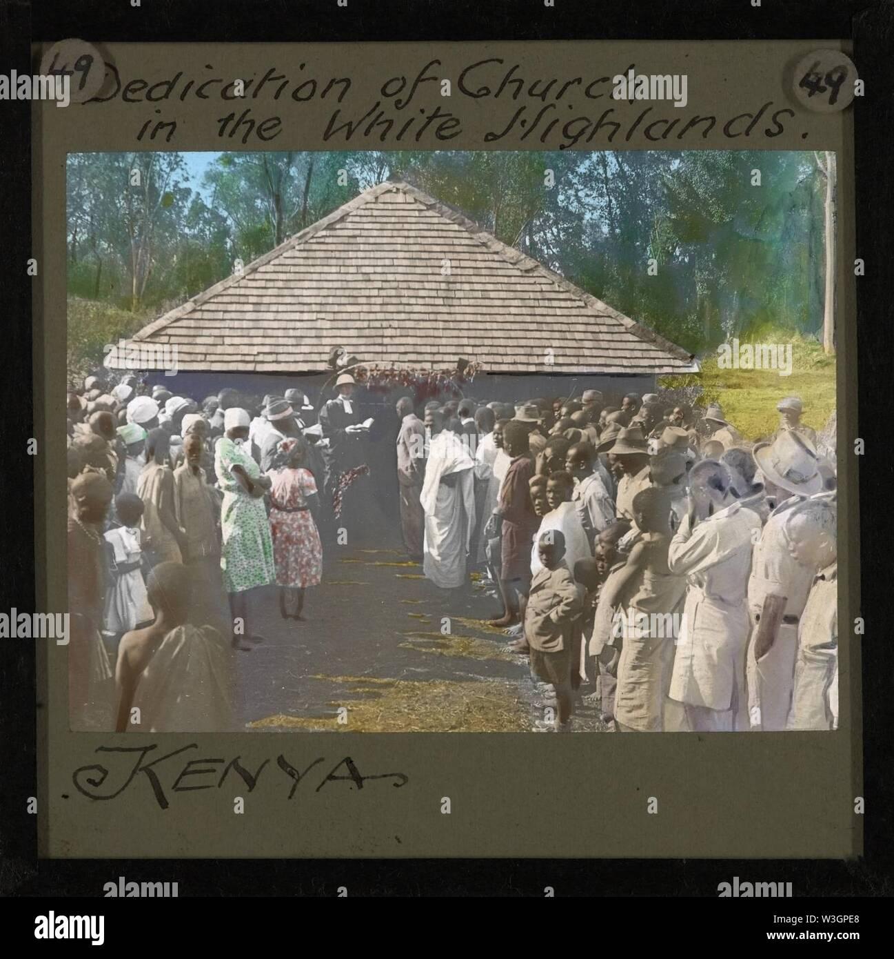 Church Dedication, Kenya, ca.1905-ca.1940 (imp-cswc-GB-237-CSWC47-LS7-049). - Stock Image
