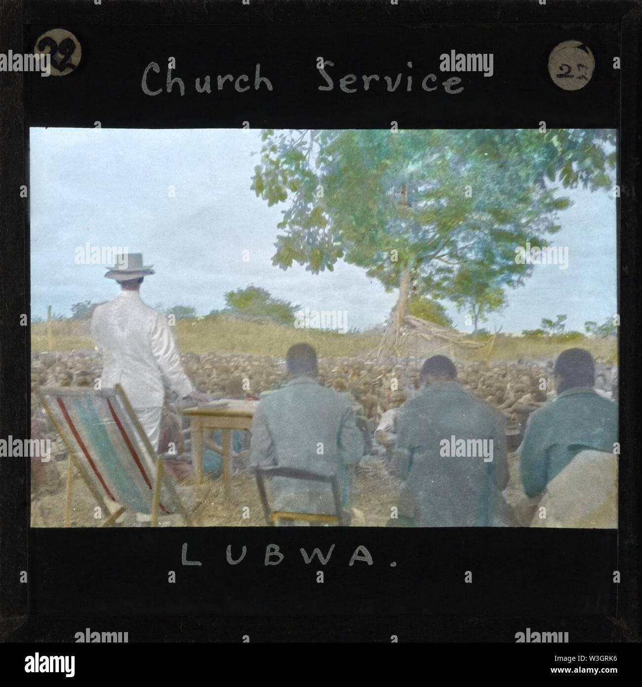 Church Service, Lubwa, Zambia, ca.1905-ca.1940 (imp-cswc-GB-237-CSWC47-LS6-022). - Stock Image