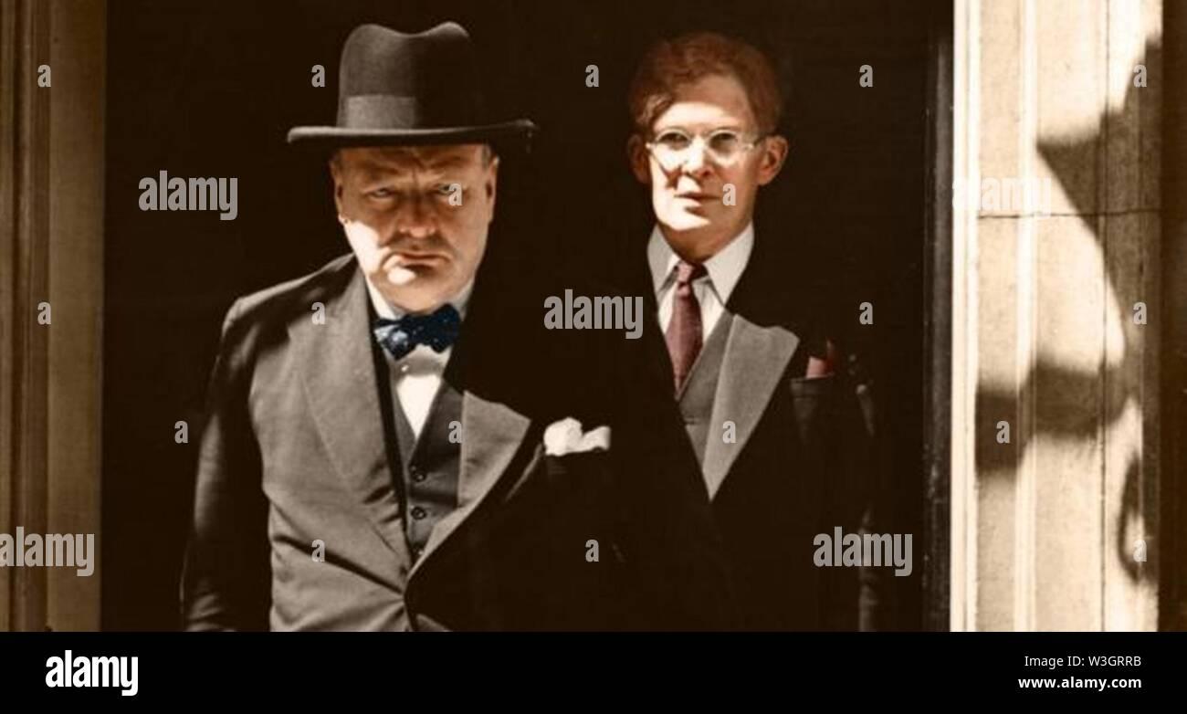 Churchill and Brendan Bracken 1940. - Stock Image