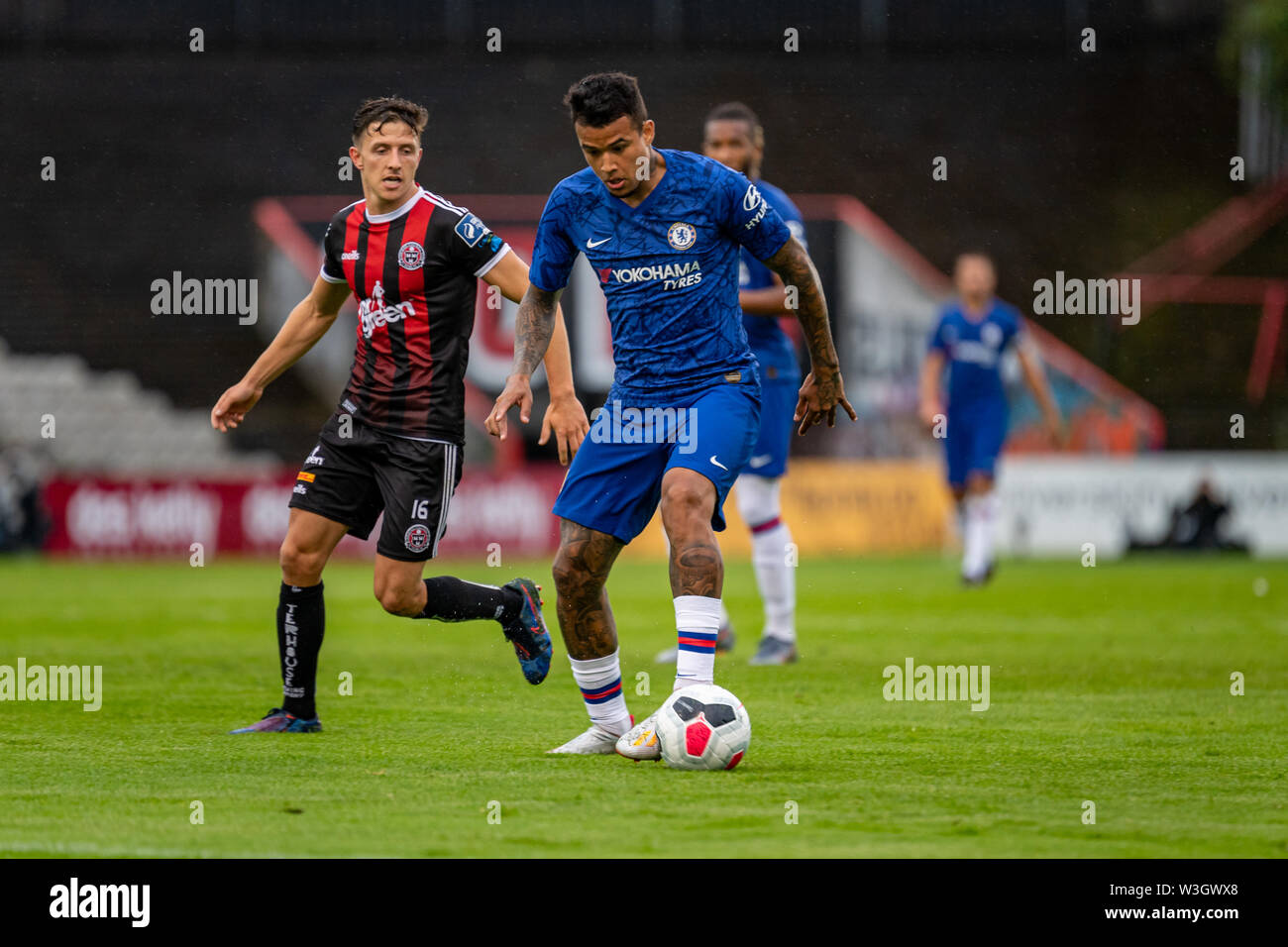 Kenedy (Robert Kenedy Nunes Nascimento) from Chelsea in action during Chelsea's pre season friendly match against Bohemian FC in Dublin. Final Score 1-1. - Stock Image