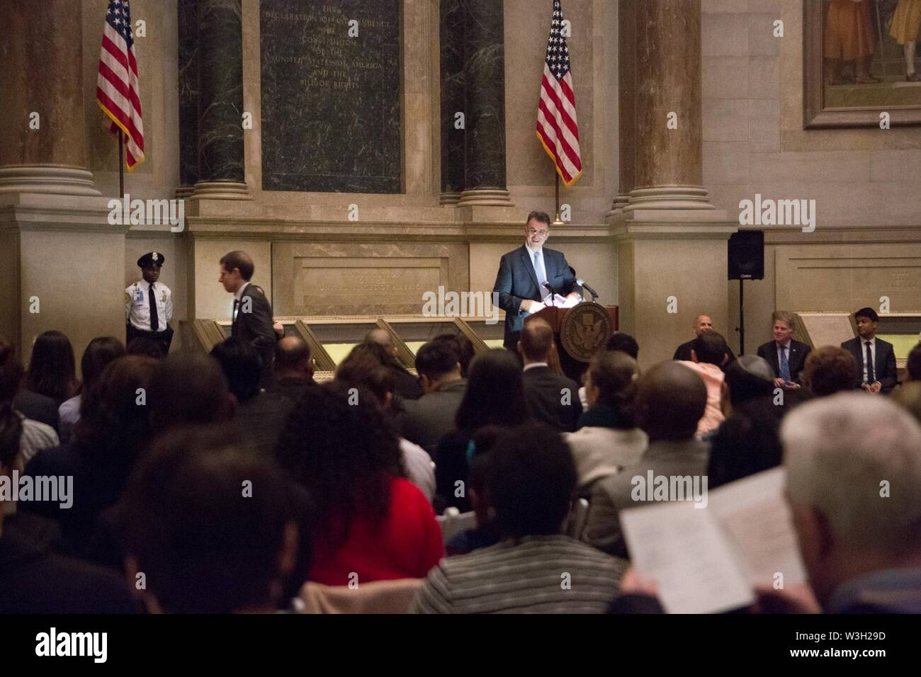 Citizenship ceremony - Stock Image