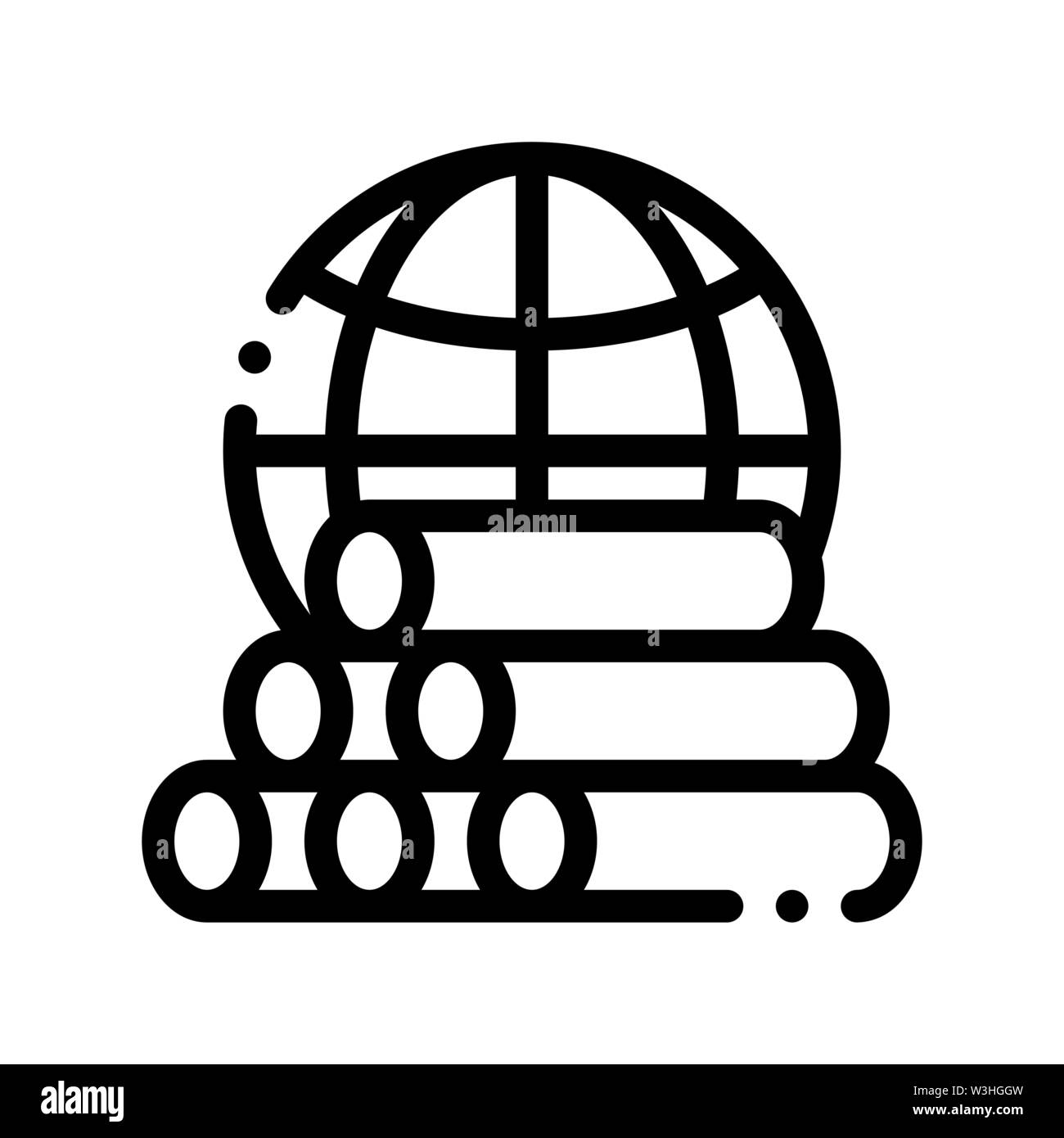 Tubes Planet Earth Problem Vector Thin Line Icon Stock Vector
