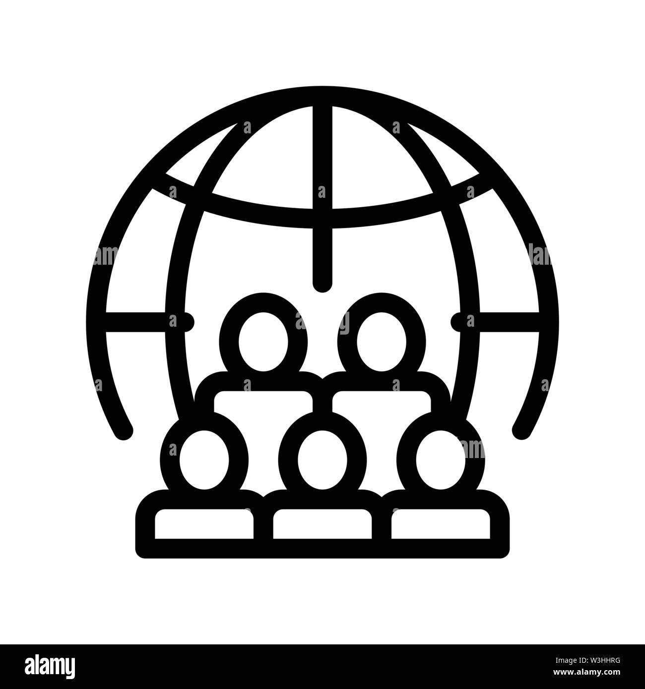 People Planet Earth Problem Vector Thin Line Icon Stock Vector