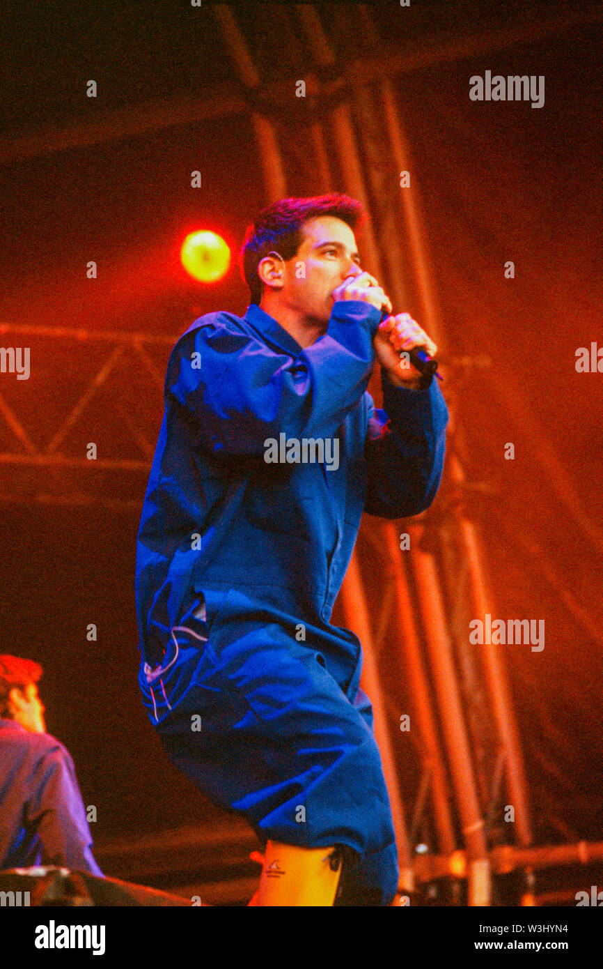 The Beastie Boys performing at T in the Park Festival 12th July 1998,Balado, Kinross, Scotland. Stock Photo
