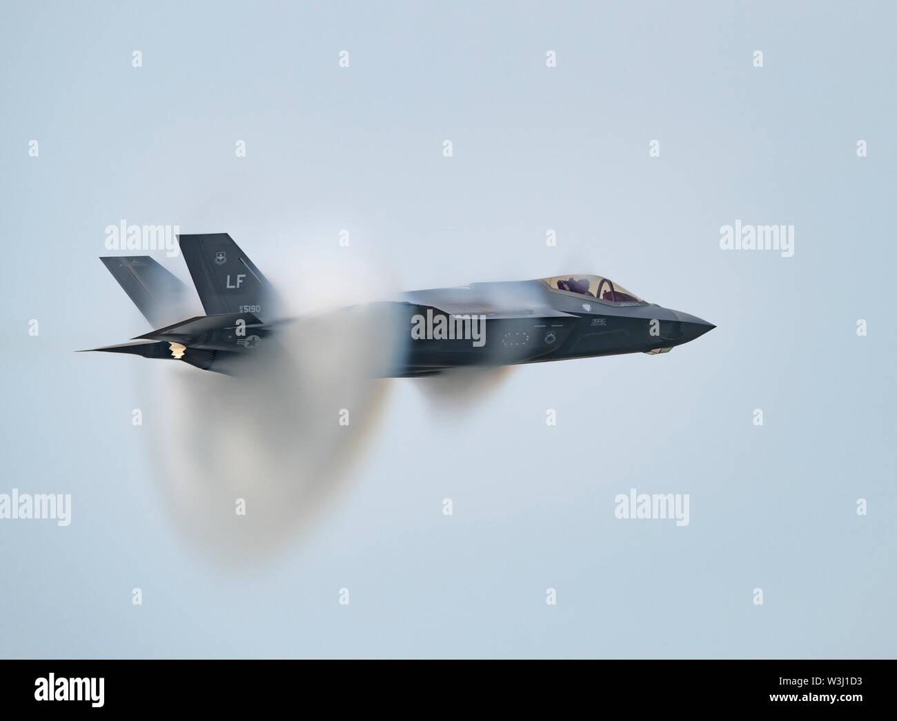 """Capt  Andrew """"Dojo"""" Olson, F-35 Demonstration Team pilot and"""