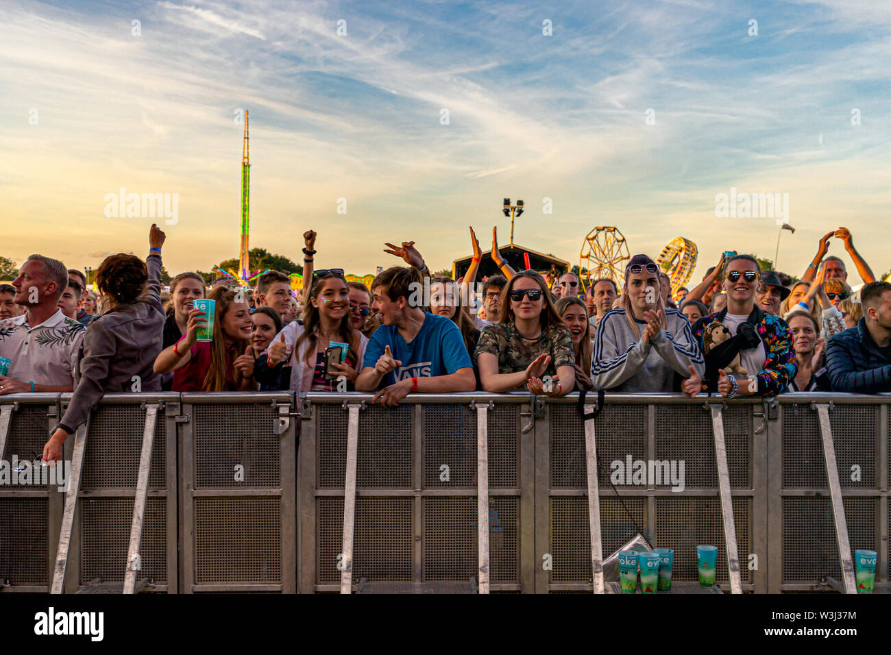 Crowd of people Brentwood Festival presents Evoke, Sunday 14th July 2019 - Stock Image