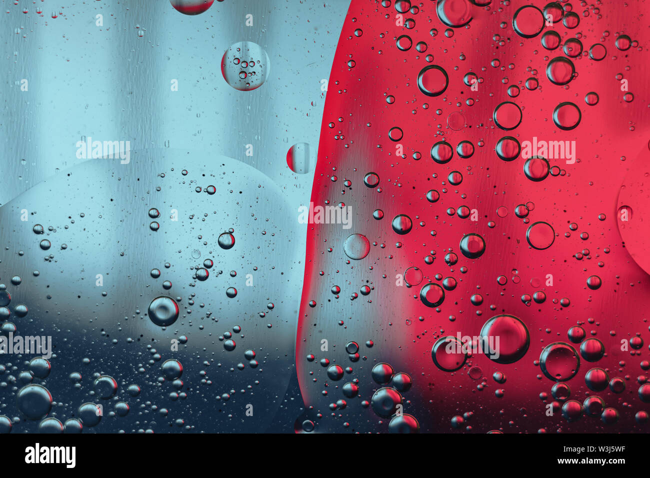 Beautiful color  blue and pink abstraction background close up. - Stock Image