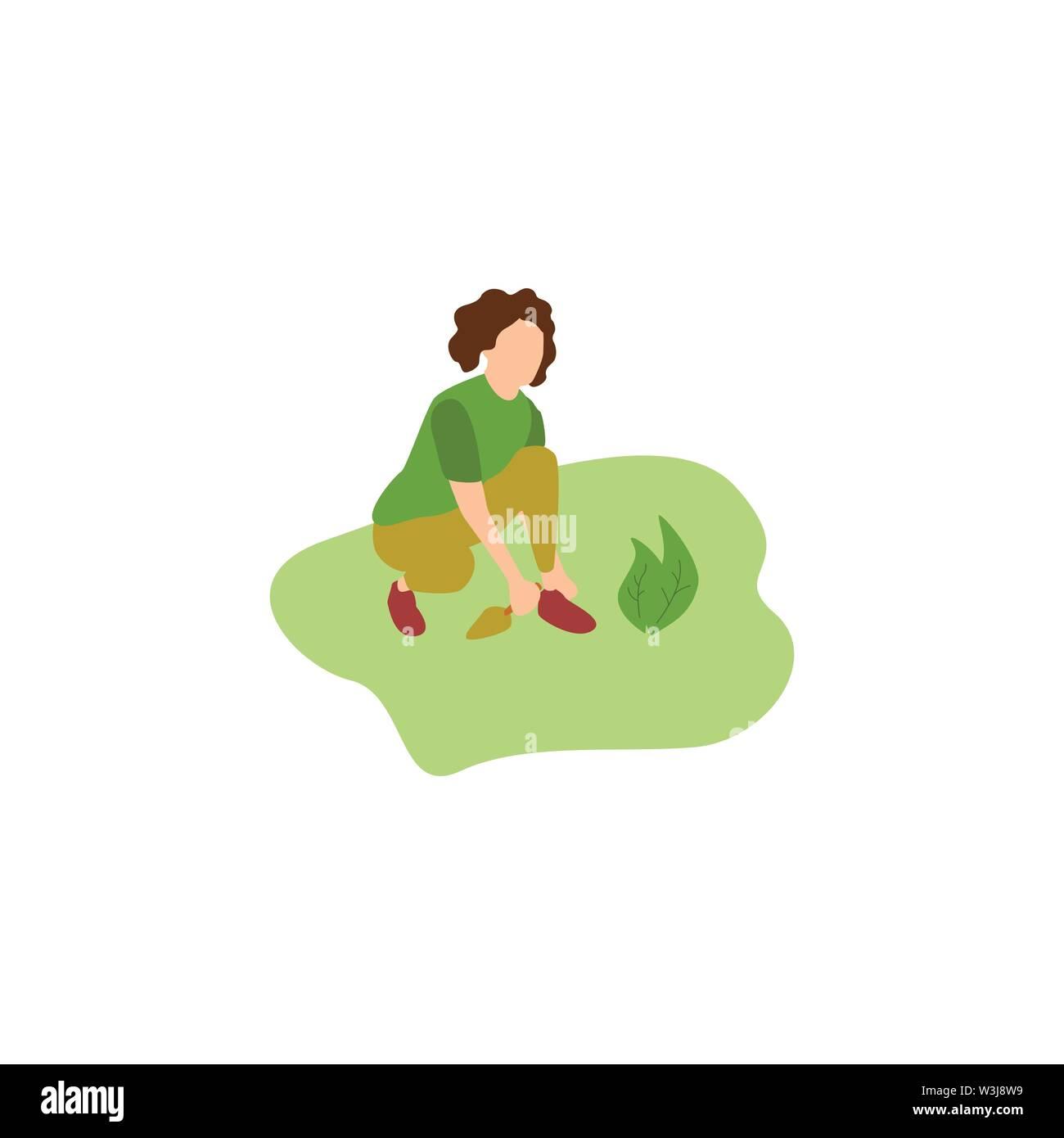 Enjoy Gardening in the Park, Human Hobbies Gardening - Stock Image