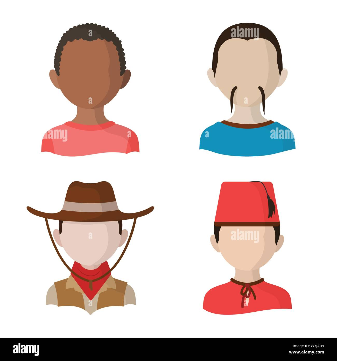Isolated object of nation and race  symbol. Collection of nation and user stock vector illustration. - Stock Image
