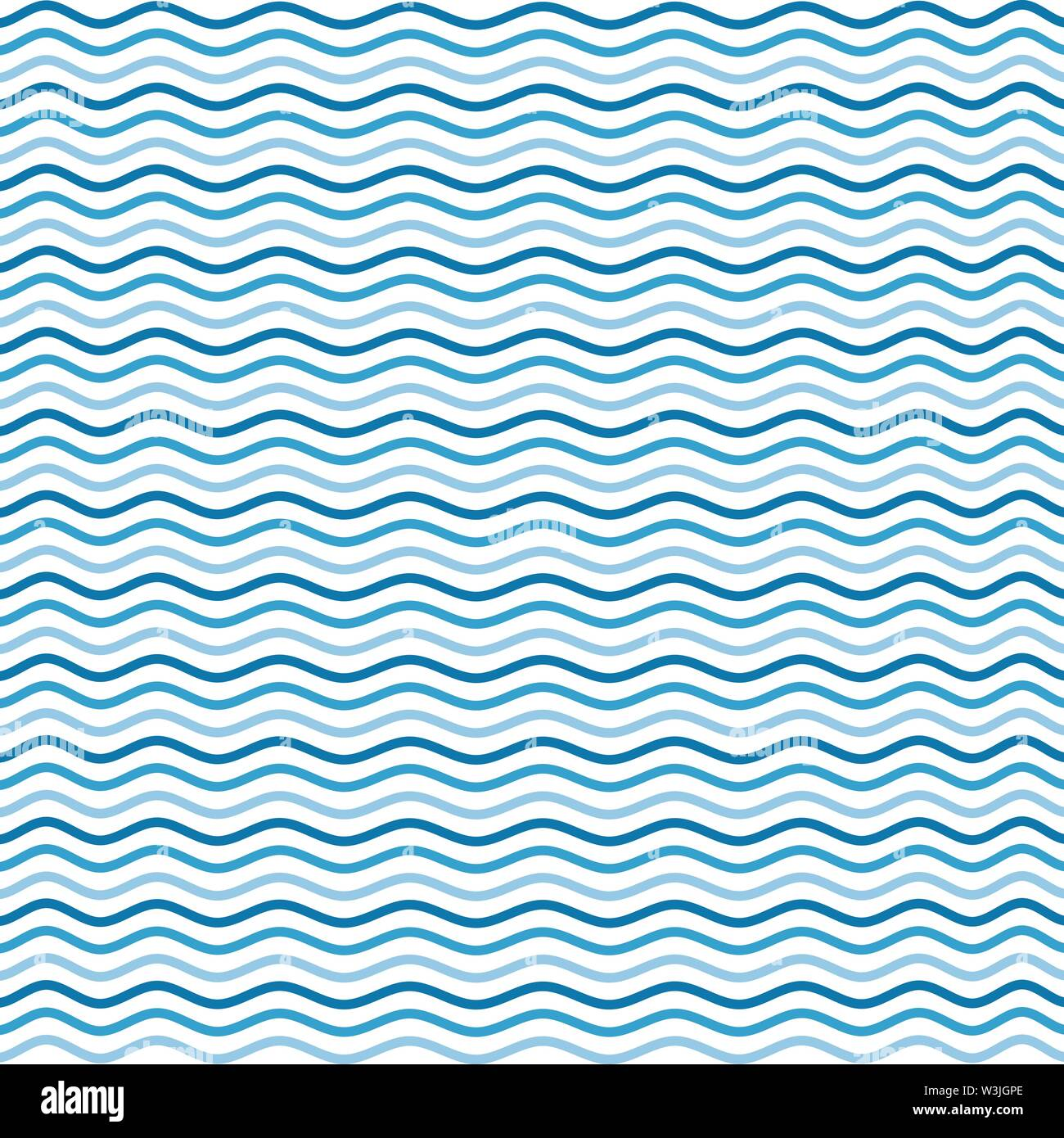 sea wave beach theme background pattern holiday vector art - Stock Image