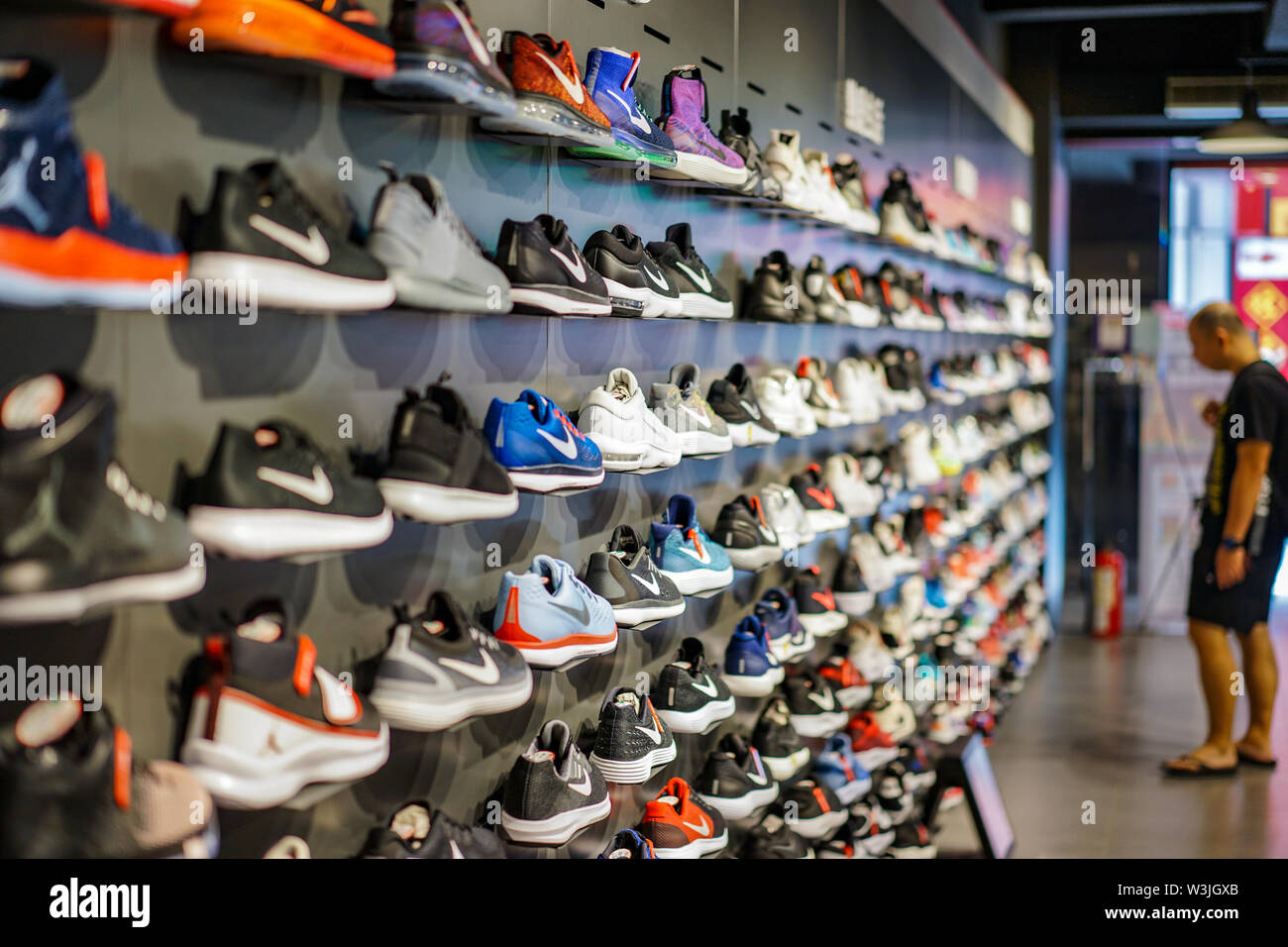 14c8b205f8 Nike Sport Shop Stock Photos & Nike Sport Shop Stock Images - Alamy
