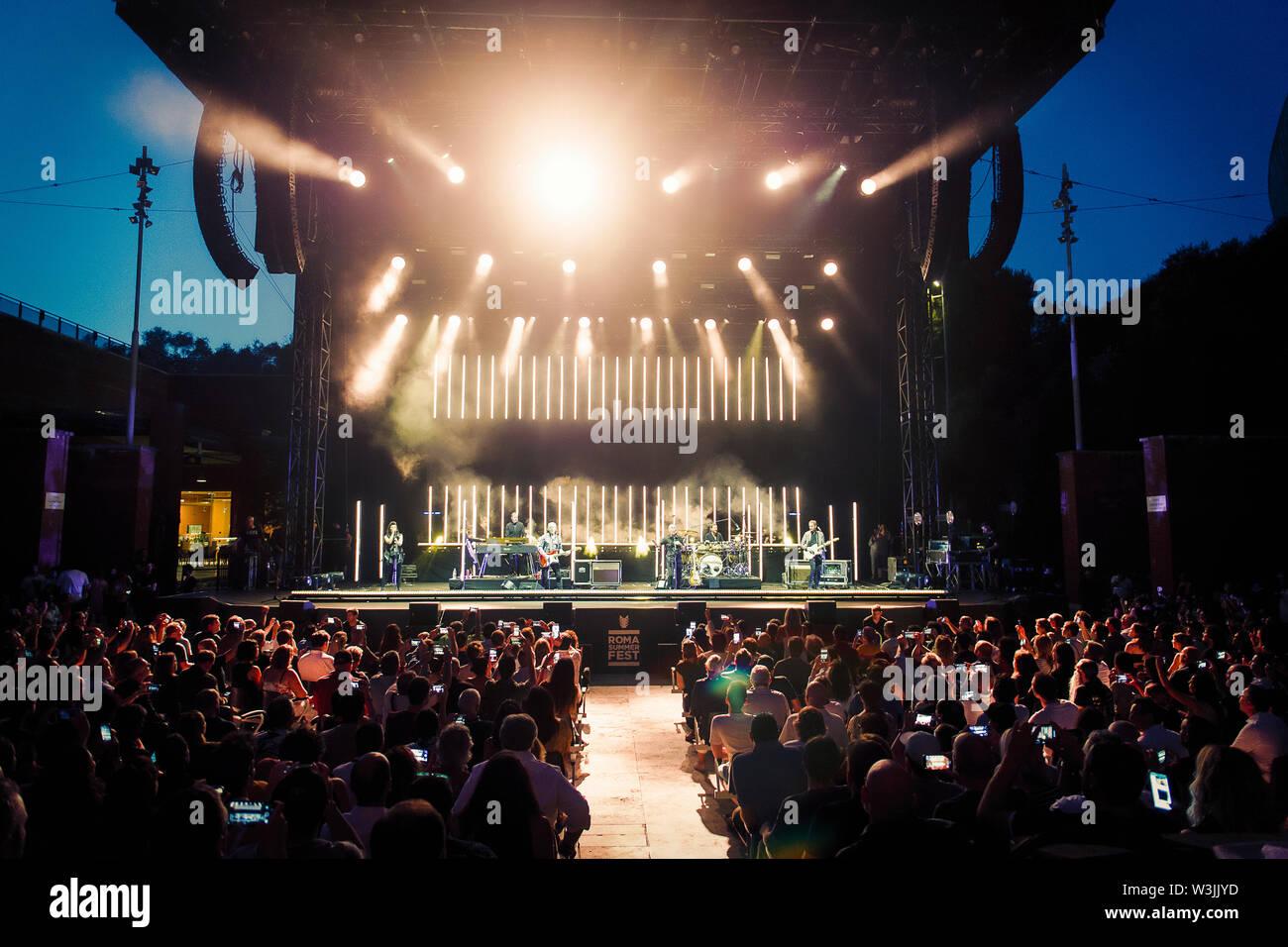 © Stefano D'Offizi - Tears for Fears @Roma Summer Fest // Auditorium parco della Musica - 2019 - www.rockerilla.com - Stock Image