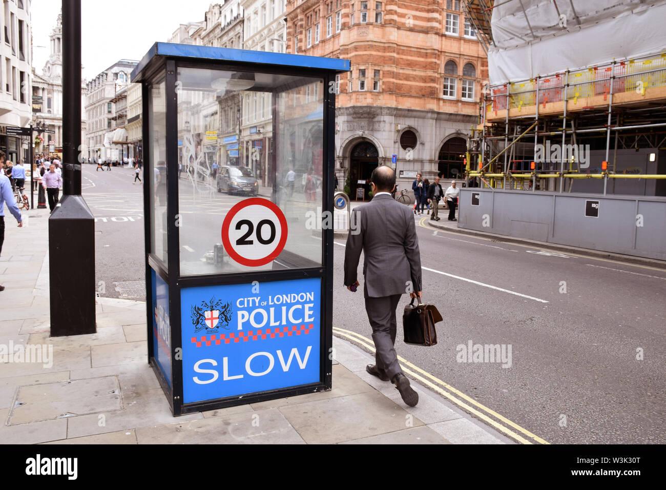 City of London police box, Fleet Street, London UK 2019 Stock Photo