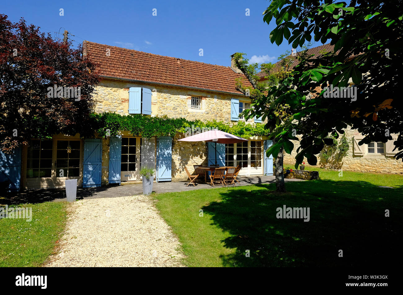 holiday home in the lot valley, france Stock Photo