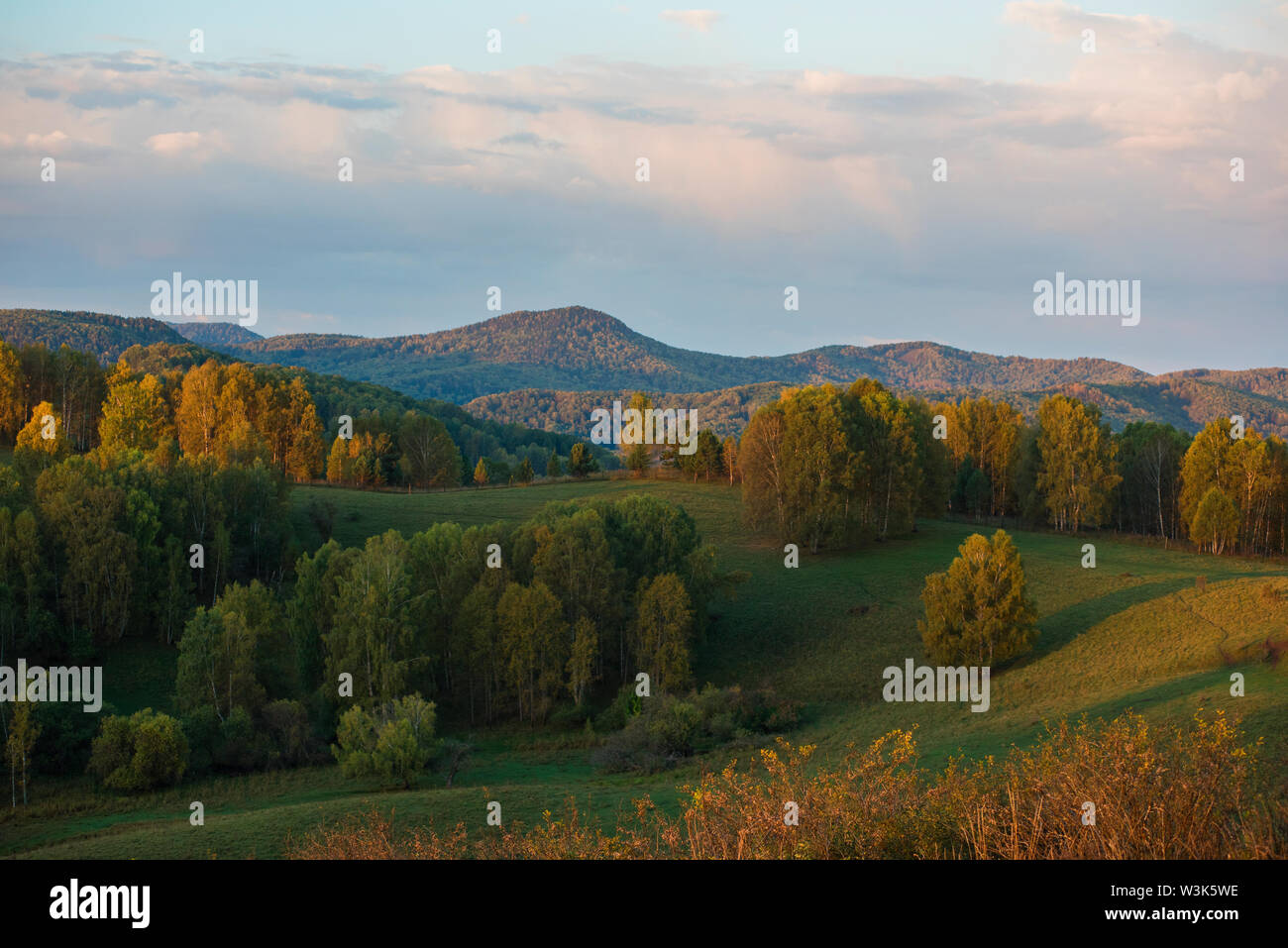 Beauty dawn in the mountains - Stock Image