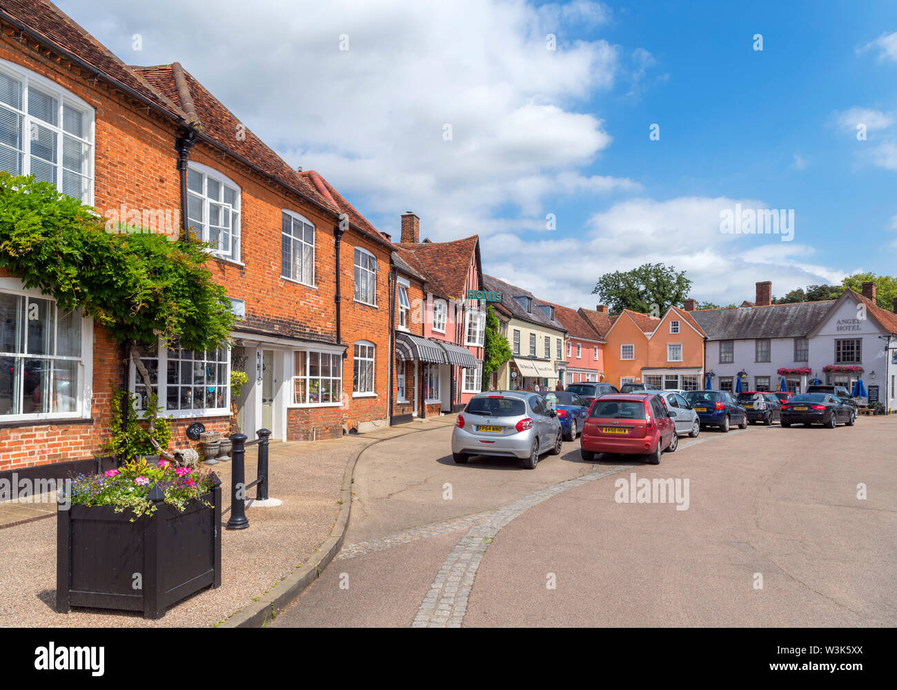 The Market Place, Lavenham, Suffolk, England, UK - Stock Image