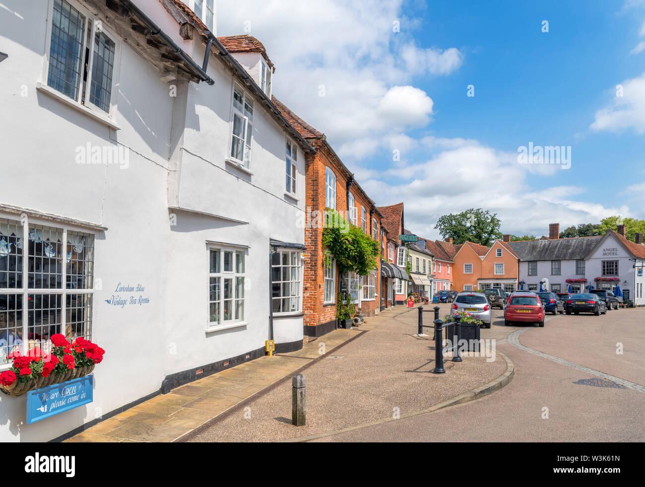 The Market Place, Lavenham, Suffolk, England, UK - Stock Image