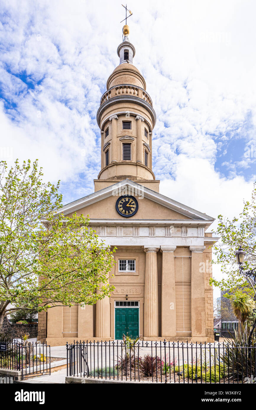 St James Concert and Assembly Hall & the Dorey Centre in the former garrison church of St James-the-Less, St Peter Port, Guernsey, Channel Islands UK Stock Photo