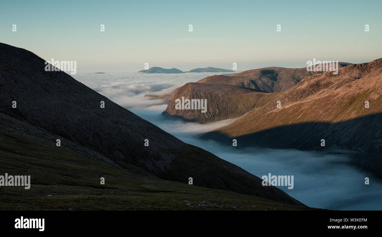 Cloud Inversion in the Valley - Stock Image