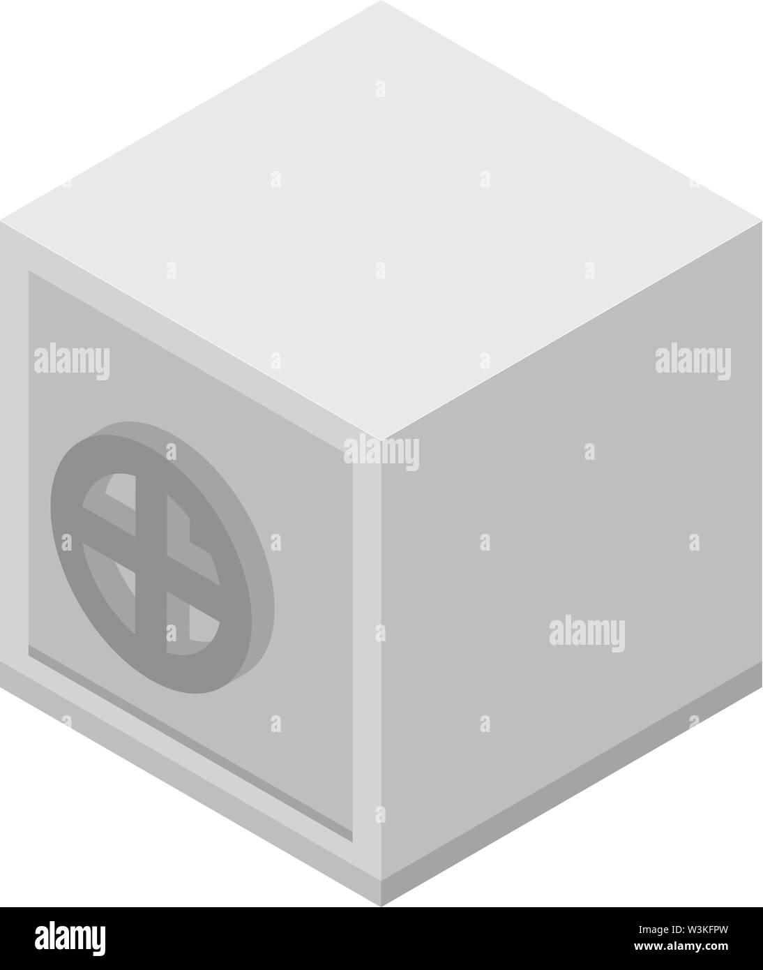 Money metal safe icon, isometric style - Stock Image