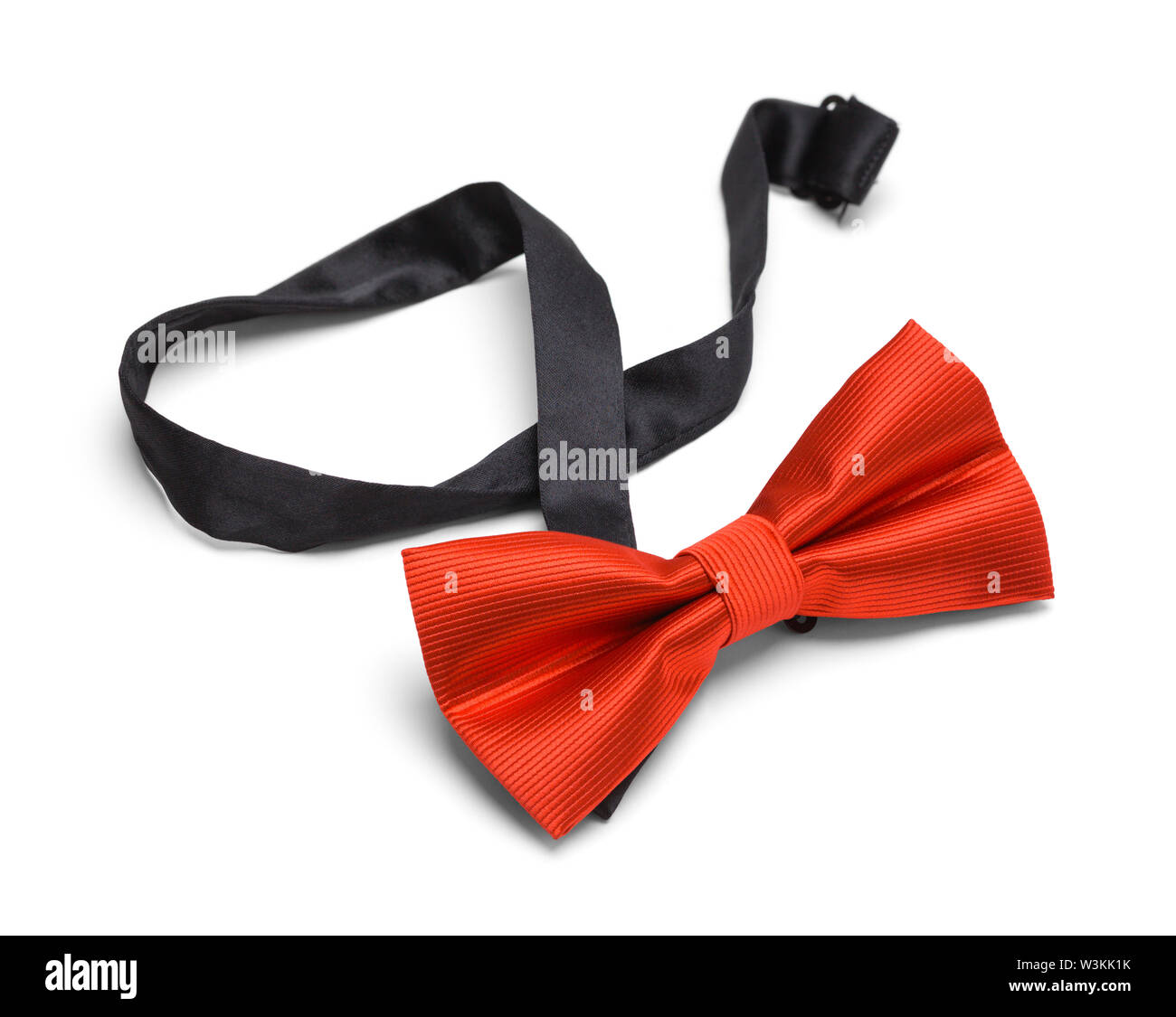 Red Bow Tie Isolated on White Background. - Stock Image