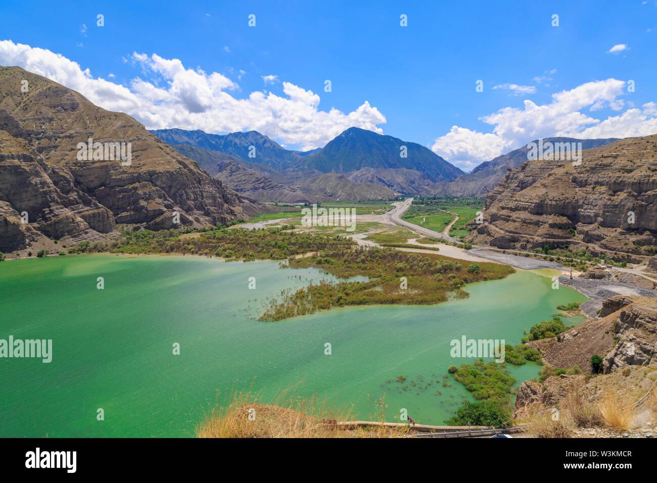 Tortum (uzundere) lake during summer time in Erzurum, Turkey - Stock Image