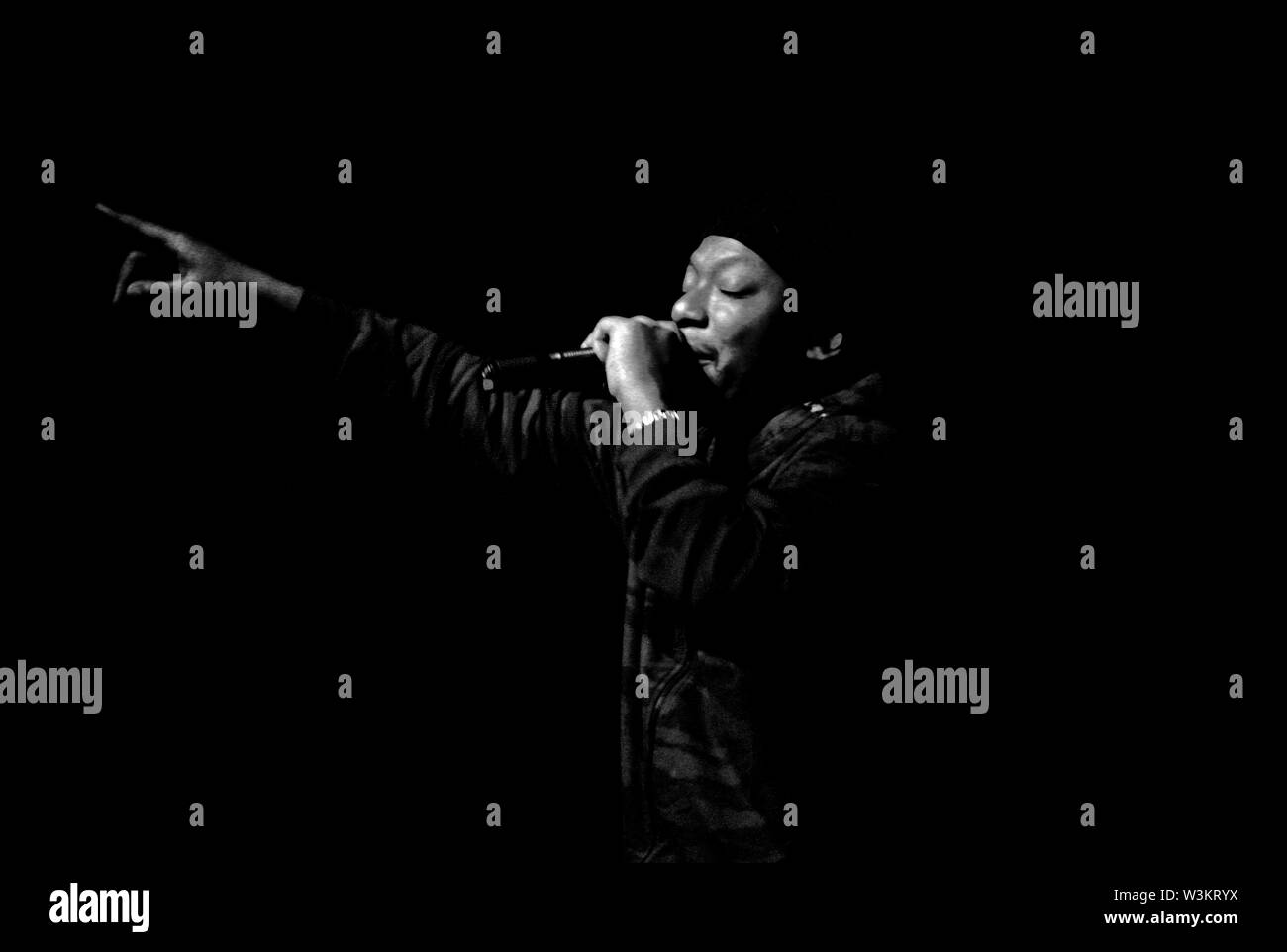 Rodney Smith AKA Roots Manuva on stage - Stock Image