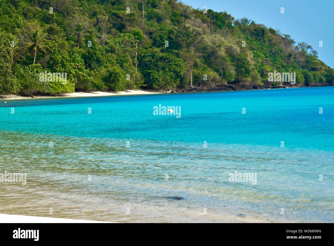 Beautiful landscape in the Indonesia, Lampung Ocean Coastline - Stock Image