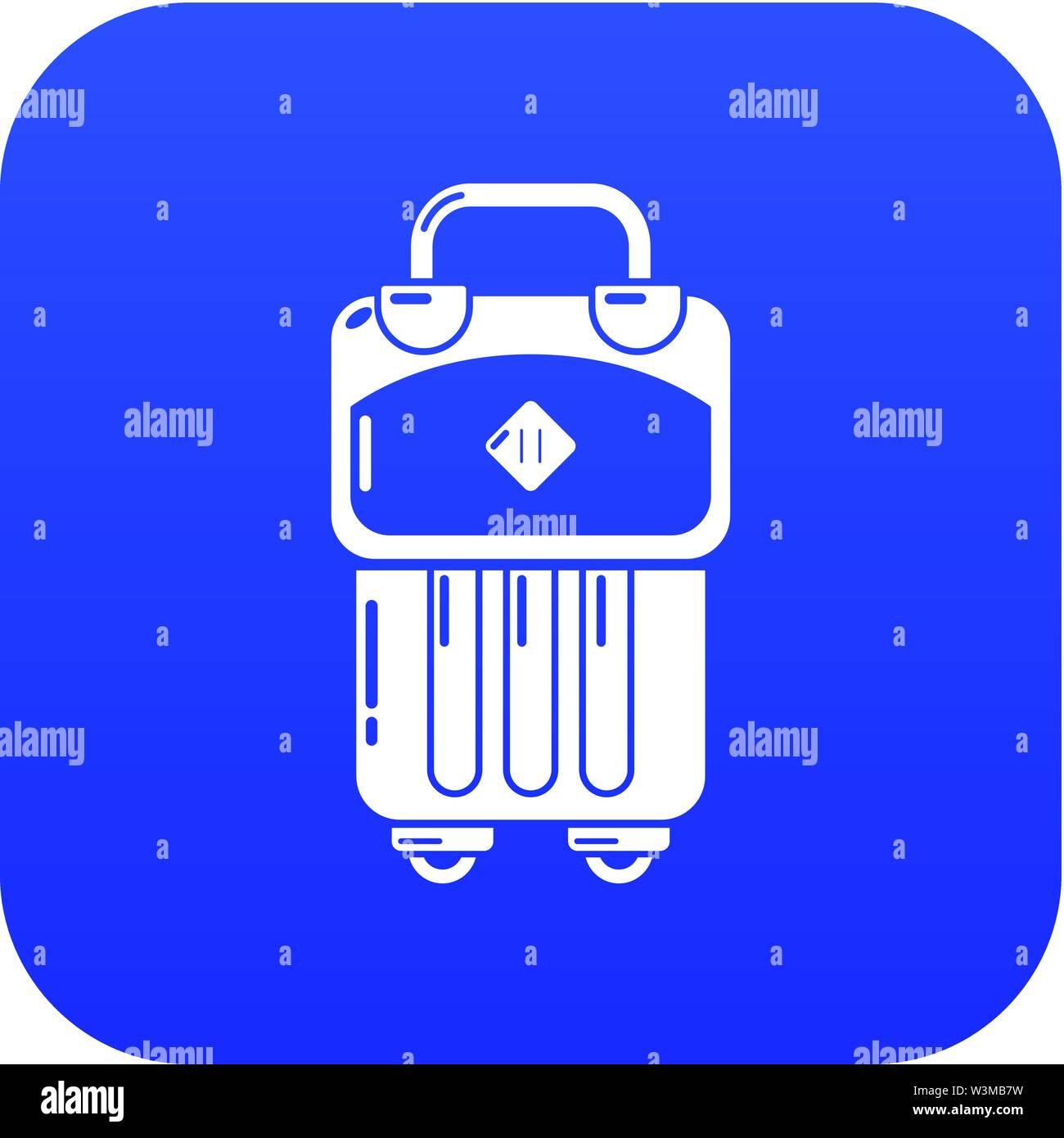 Bag design icon, simple black style - Stock Image