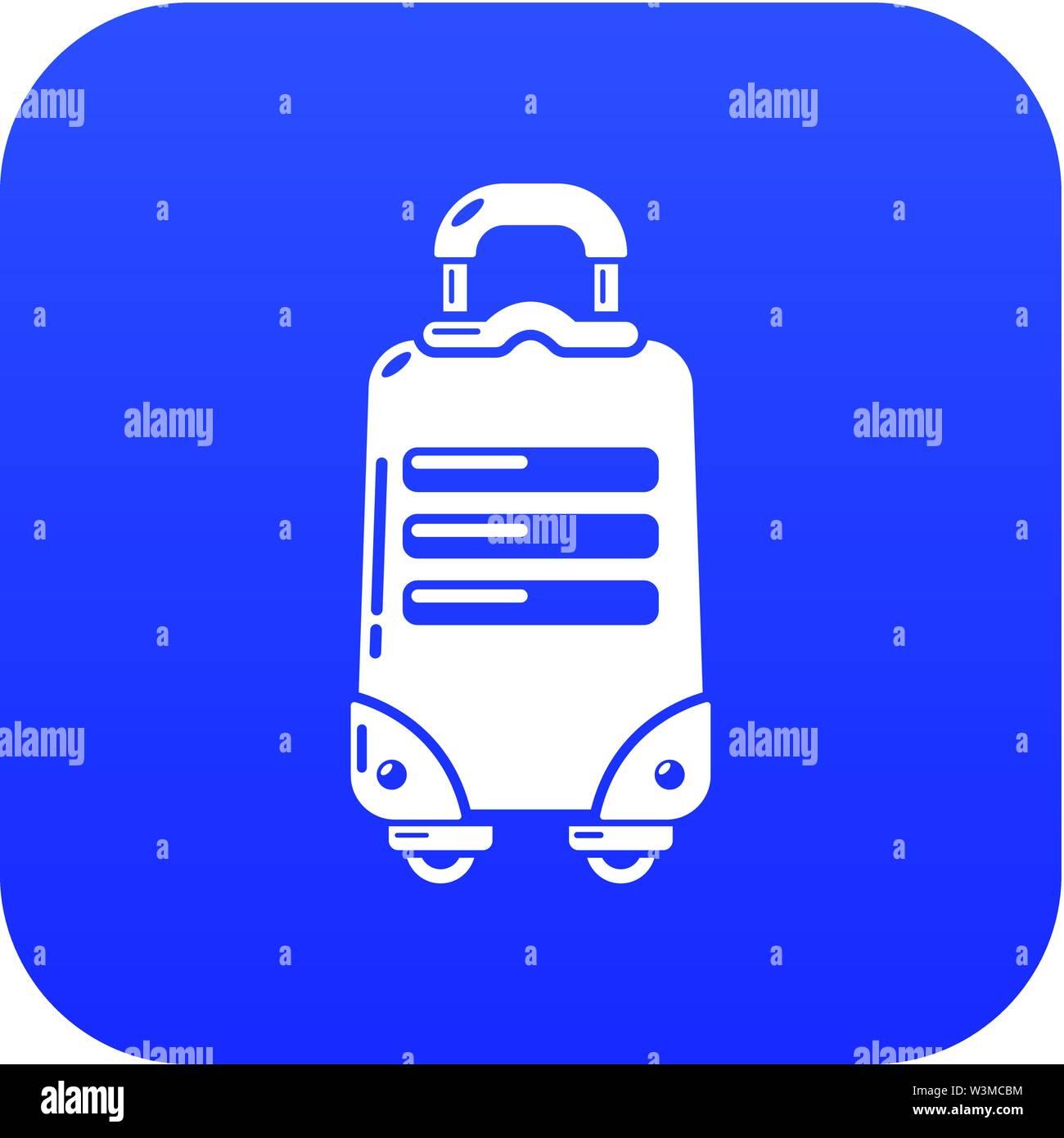 Travel bag tourist icon, simple black style - Stock Image