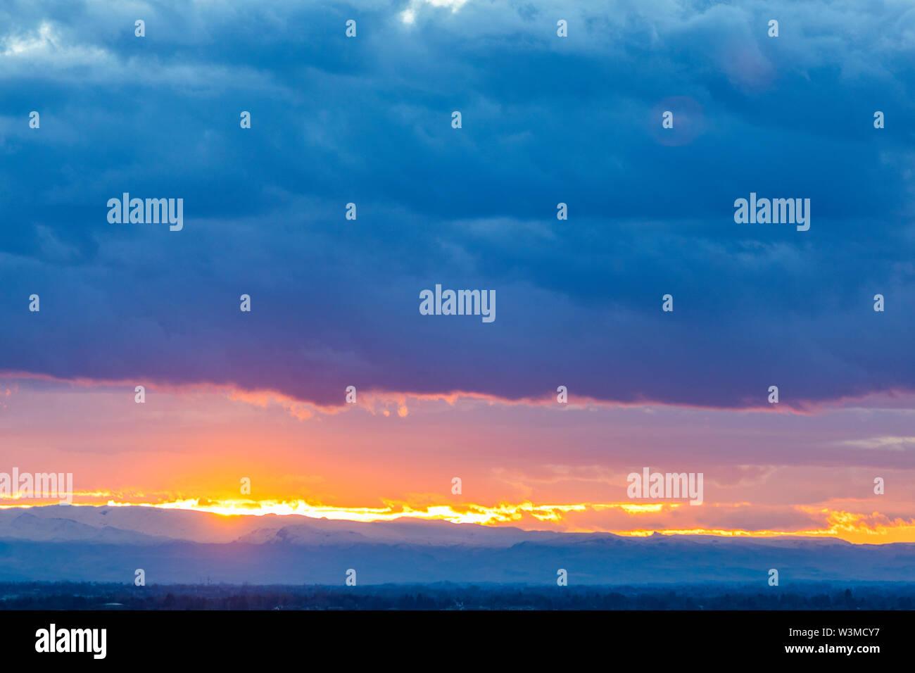 Sunset cloudscape - Stock Image