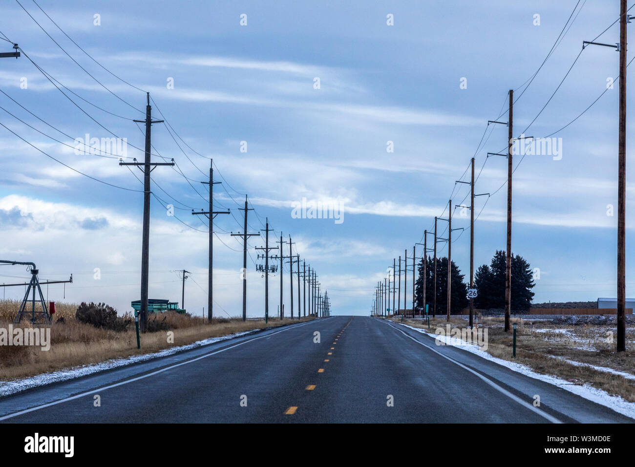 Highway in Gooding, Idaho - Stock Image