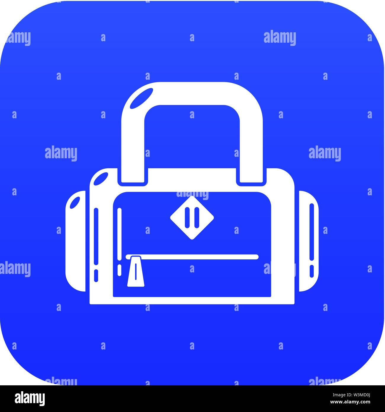 Travel bag handle icon, simple black style - Stock Image