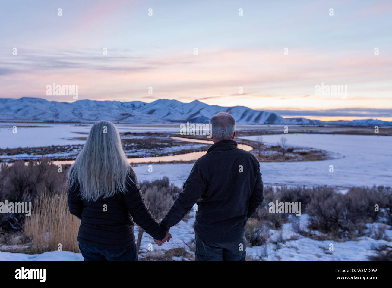 Couple in Picabo, Idaho - Stock Image
