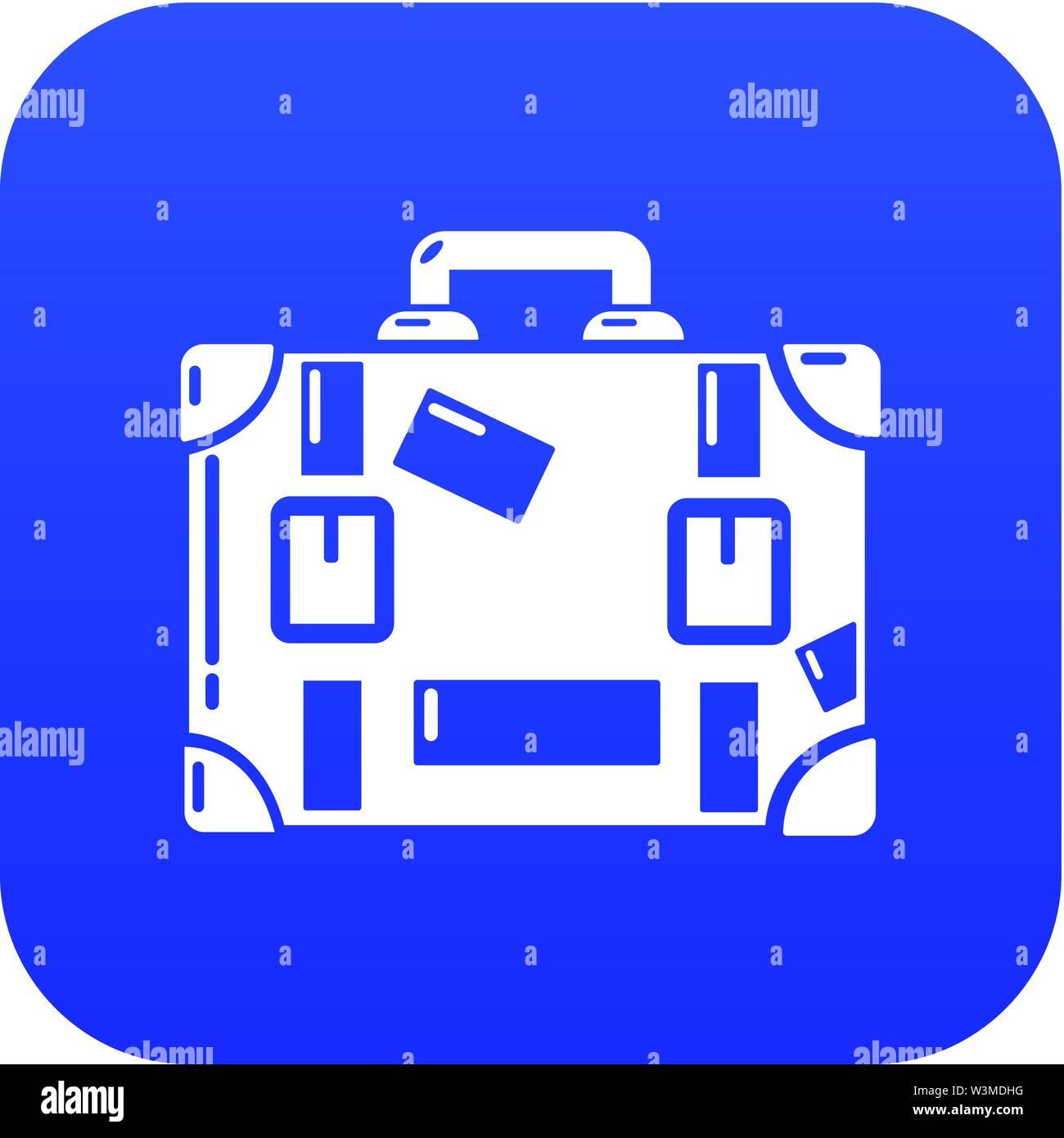 Travel suitcase icon, simple black style - Stock Image