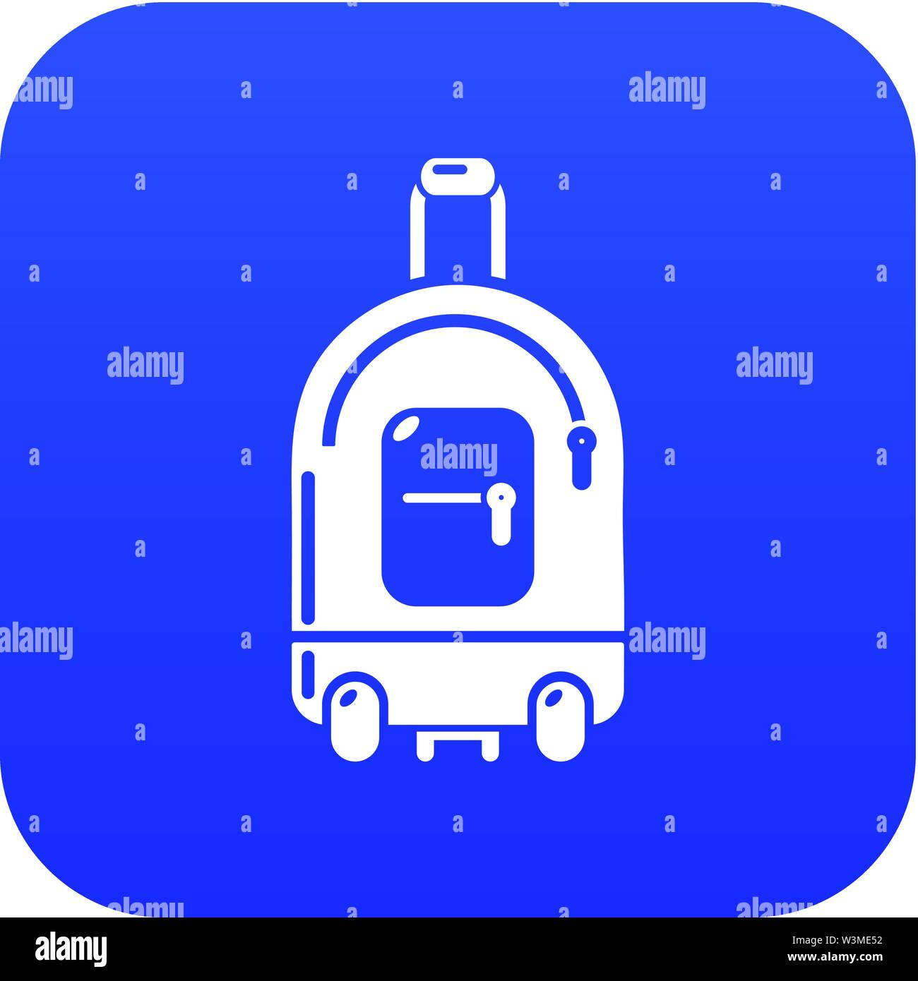 Travel bag holiday icon, simple black style - Stock Image