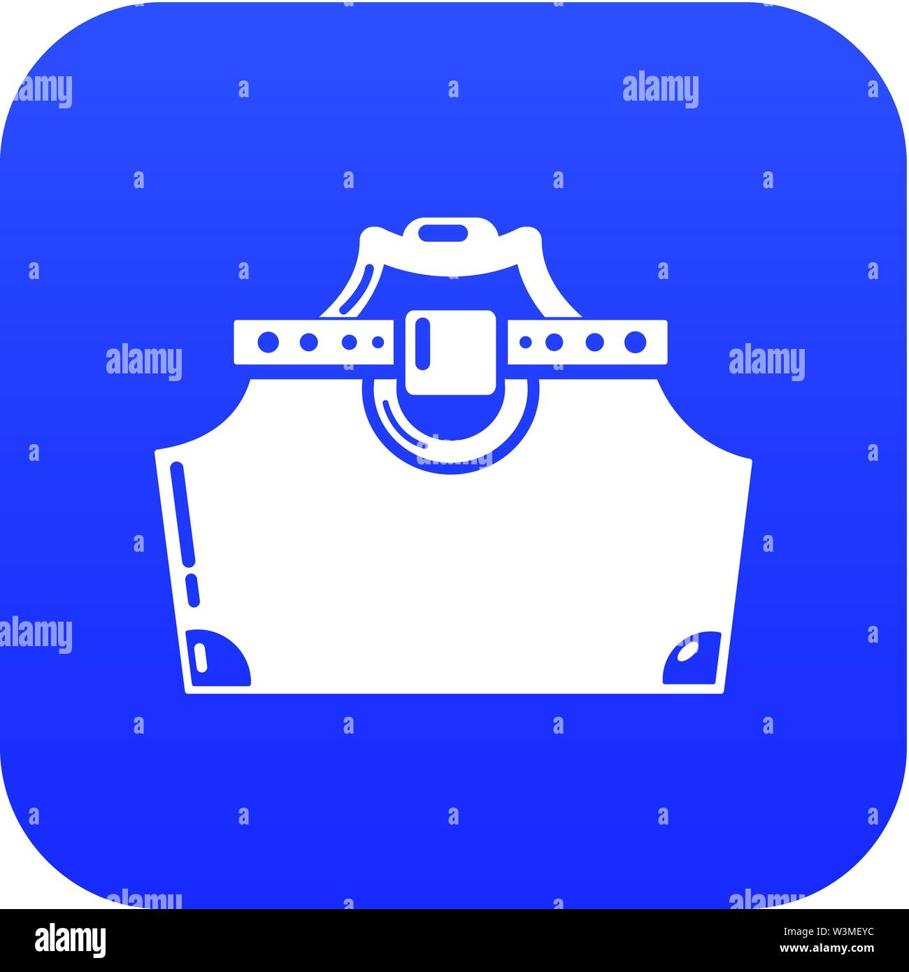 Travel bag woman icon, simple black style - Stock Image