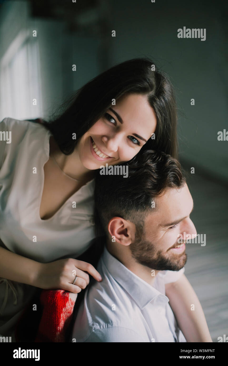 Smiling young couple - Stock Image