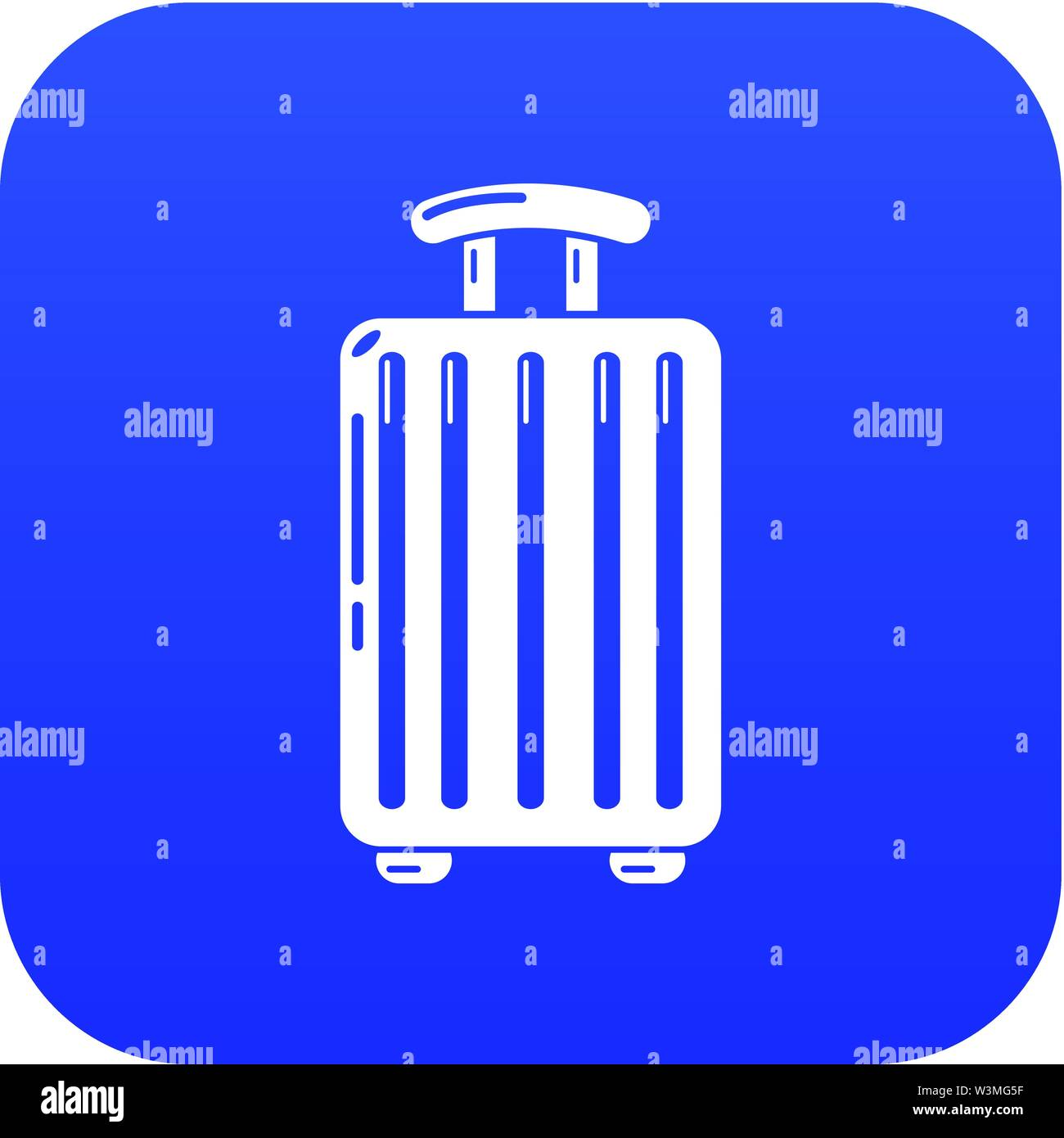 Travel bag trip icon, simple black style - Stock Image