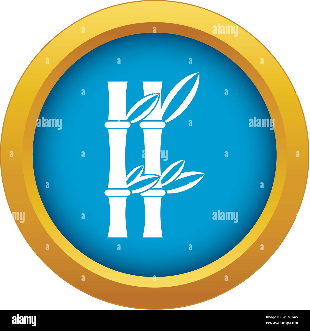 Bamboo icon blue vector isolated - Stock Image