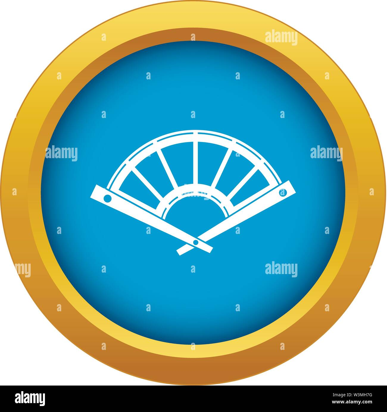 Fan icon blue vector isolated - Stock Image