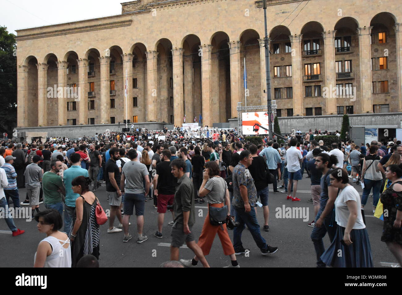 Anti-Russian Demonstrations in Tbilisi, Georgia (Country) 23rd June 2019 Stock Photo