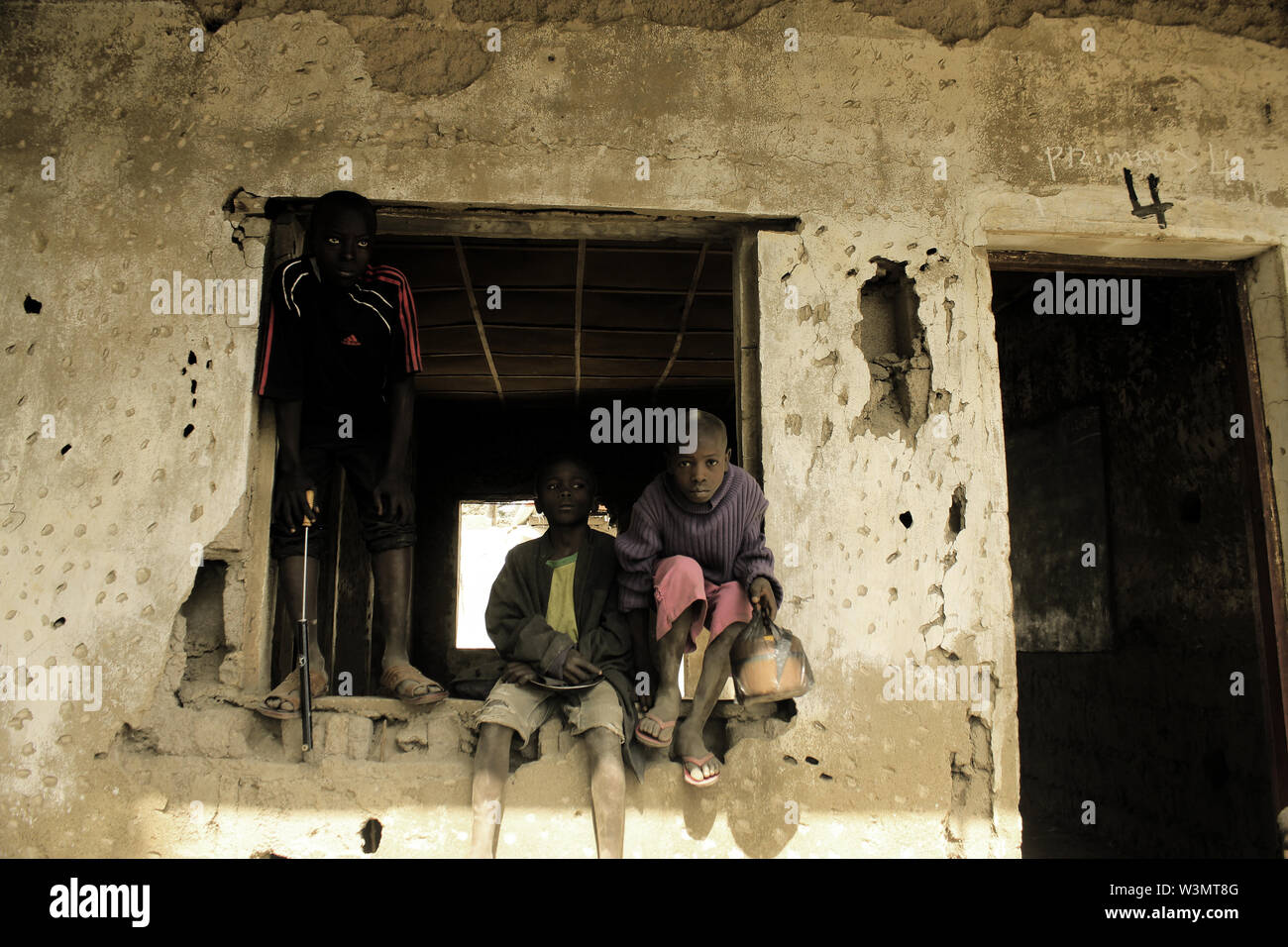 Returnee school children at Lassa, Borno state - Stock Image