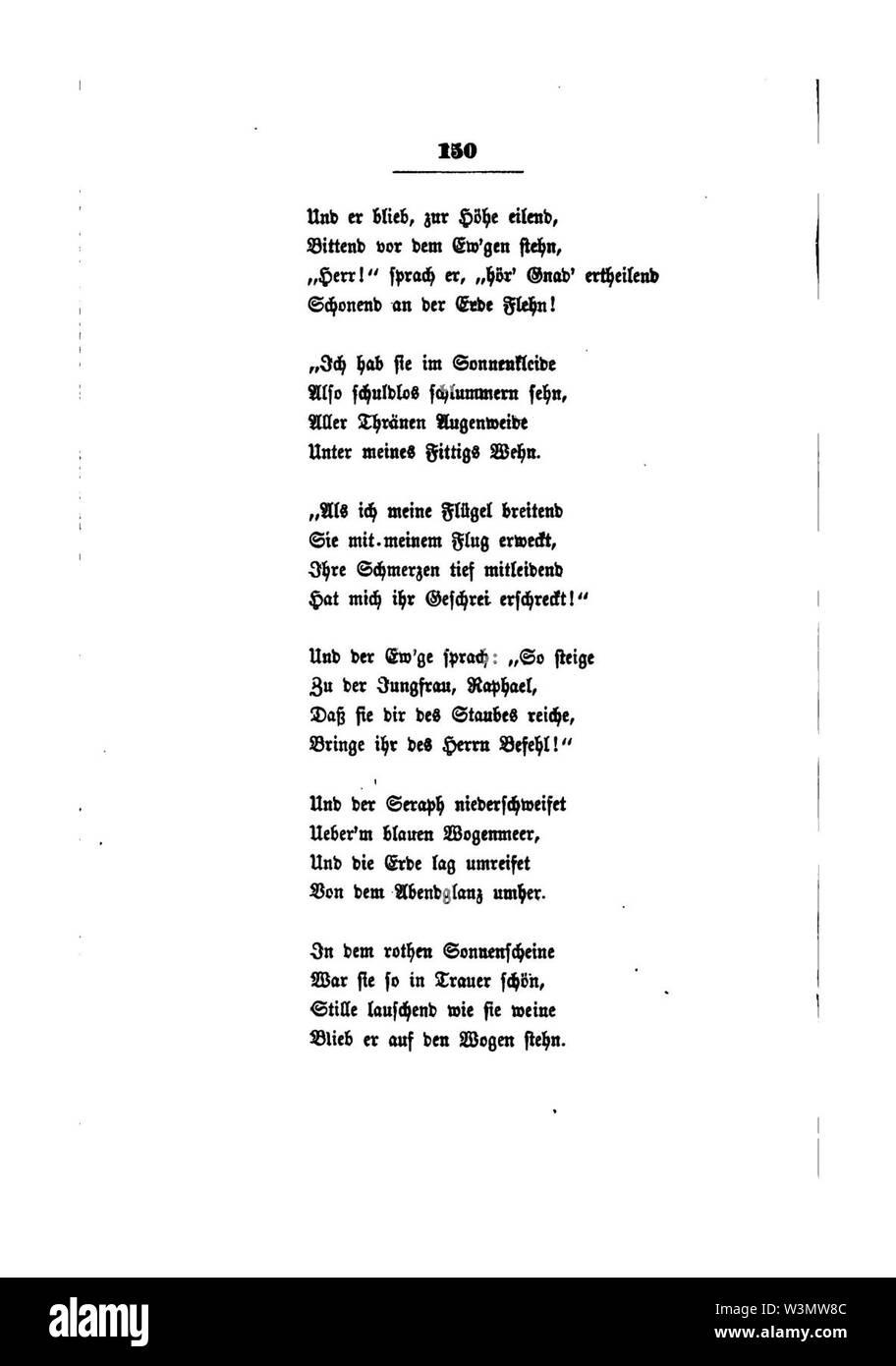 Clemens Brentano's gesammelte Schriften III 150. - Stock Image