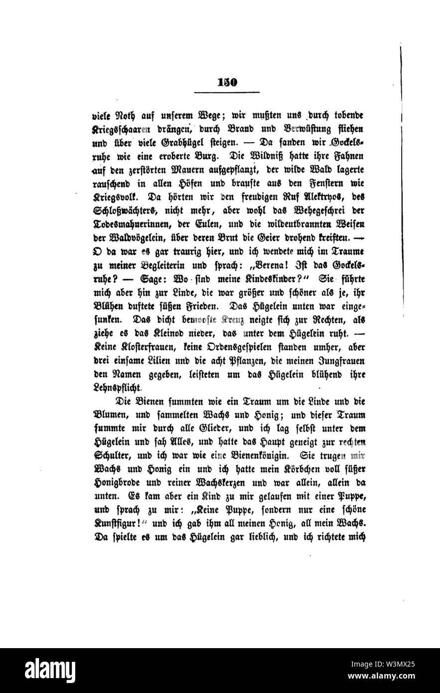 Clemens Brentano's gesammelte Schriften IV 150. - Stock Image