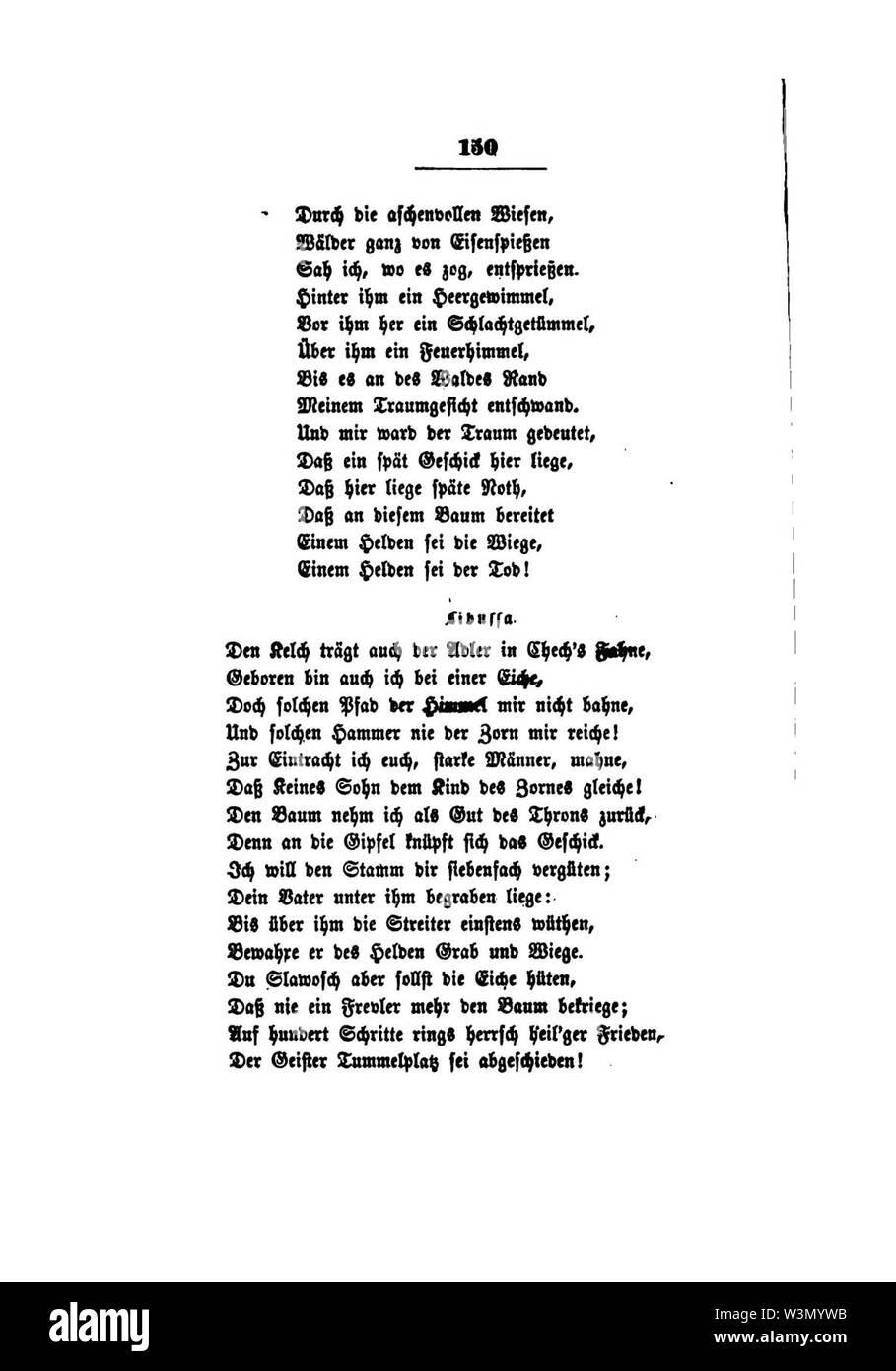 Clemens Brentano's gesammelte Schriften VI 150. - Stock Image