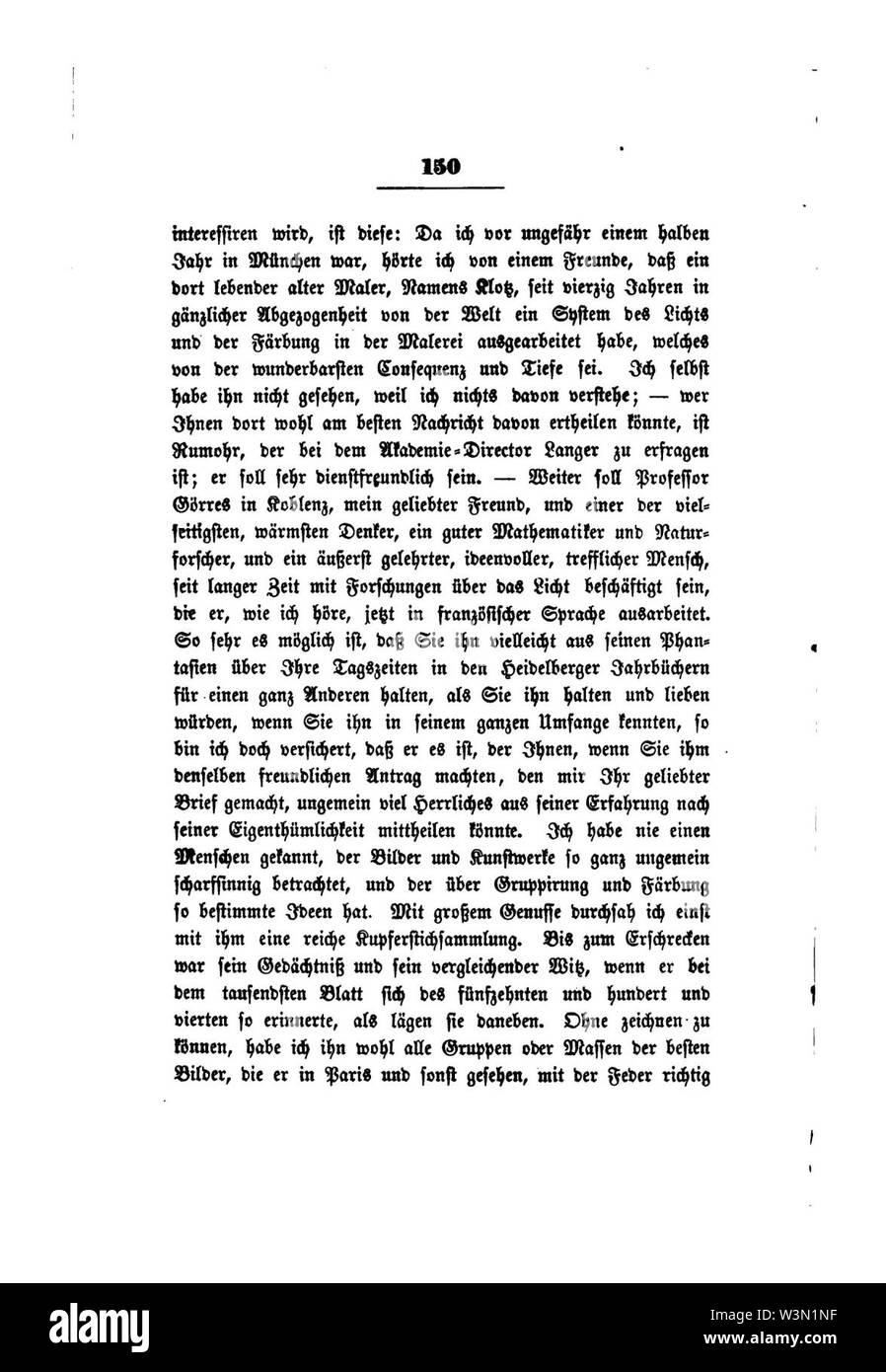 Clemens Brentano's gesammelte Schriften VIII 150. - Stock Image
