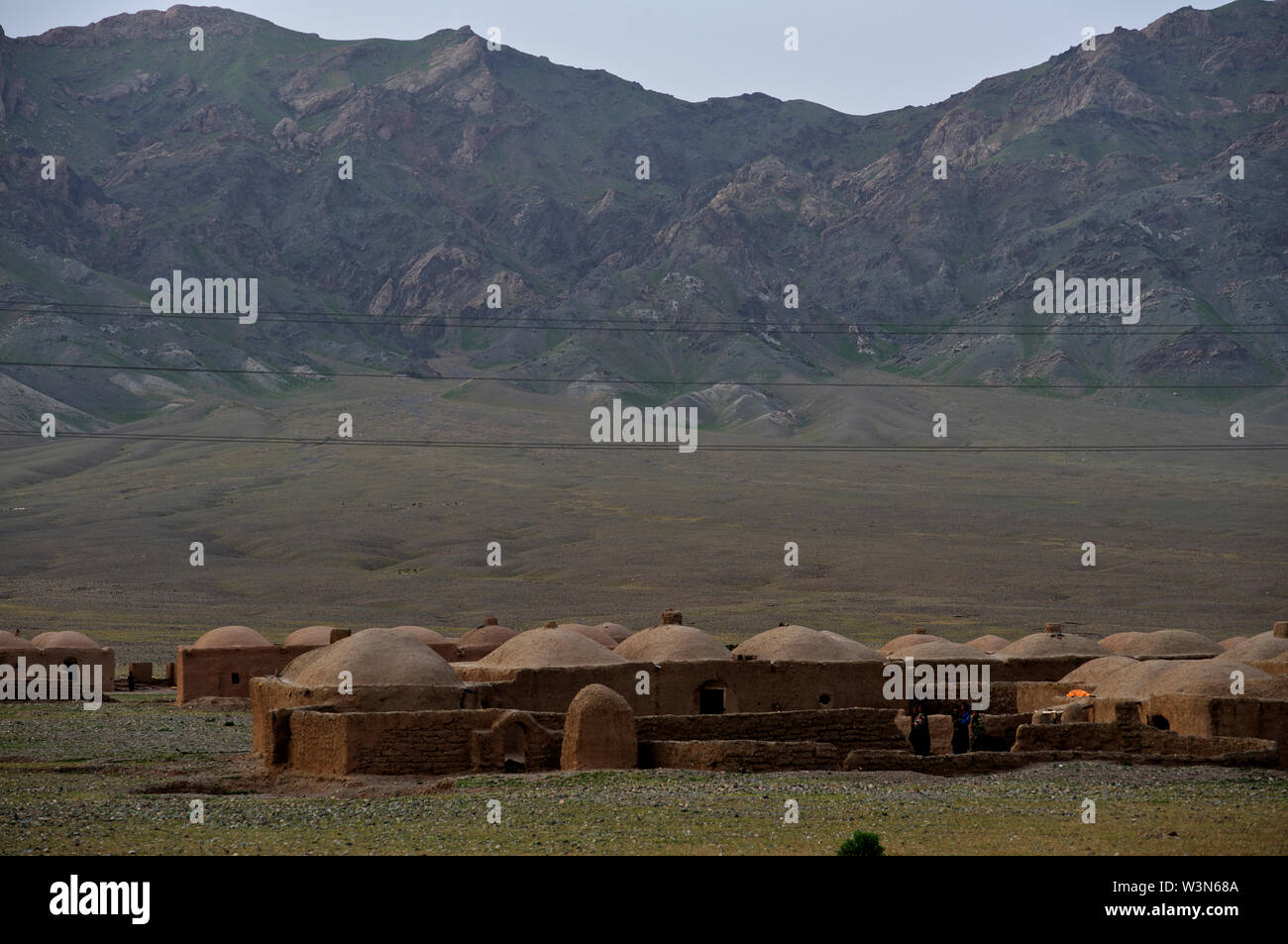 A landscape of a typical village near the city of Herat, Afghanistan. May 7, 2009. Stock Photo