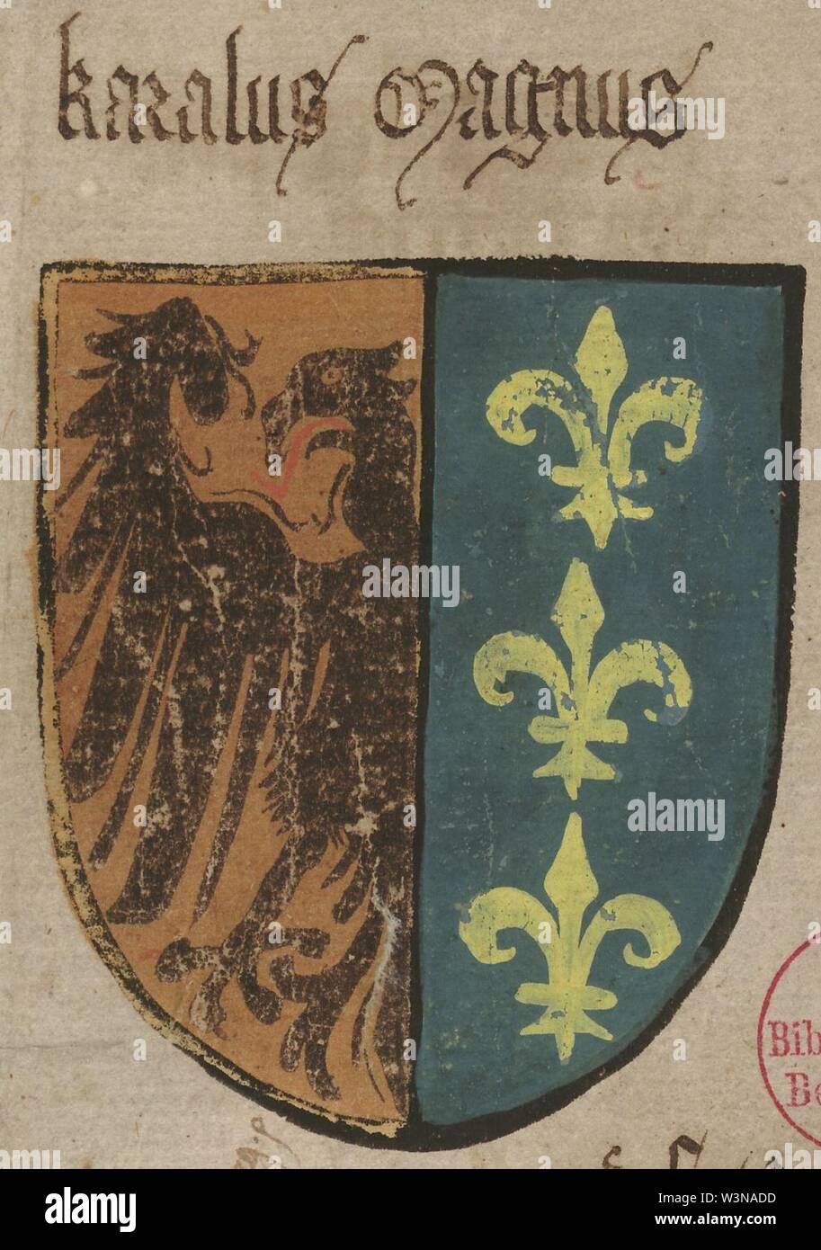 Coat of arms karl der grosse. - Stock Image